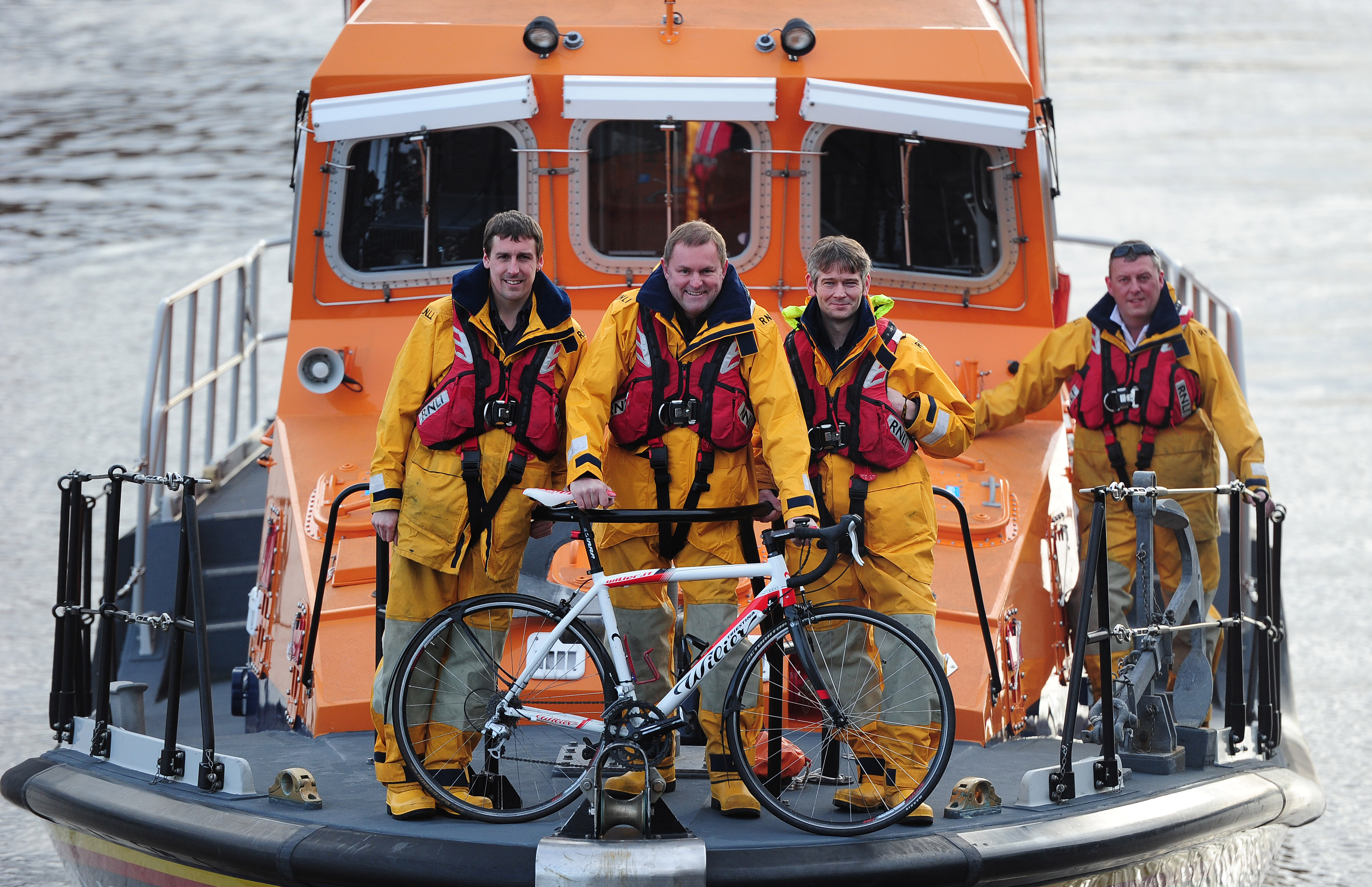 Image result for tour de yorkshire on lifeboat