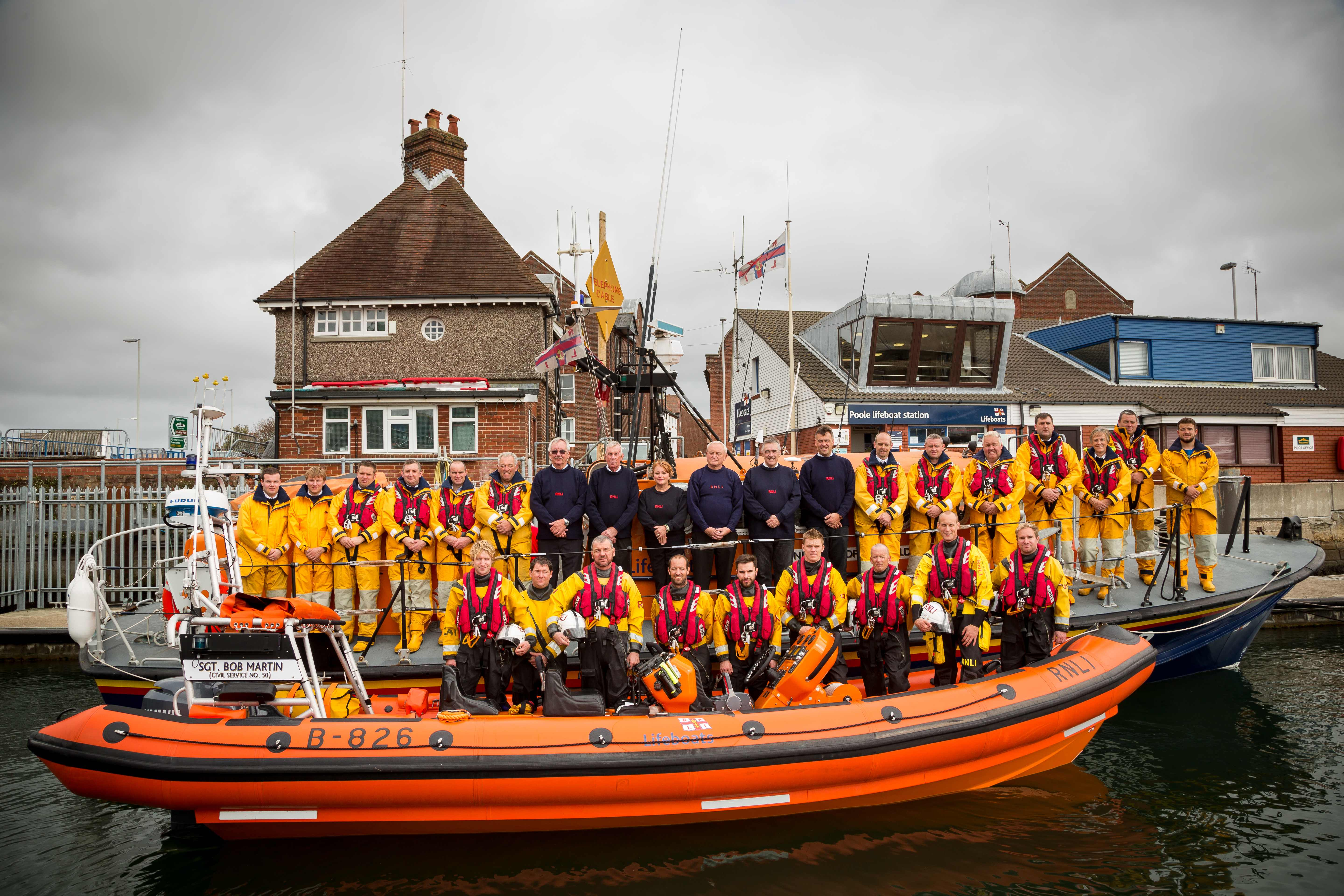 Poole lifeboat crew