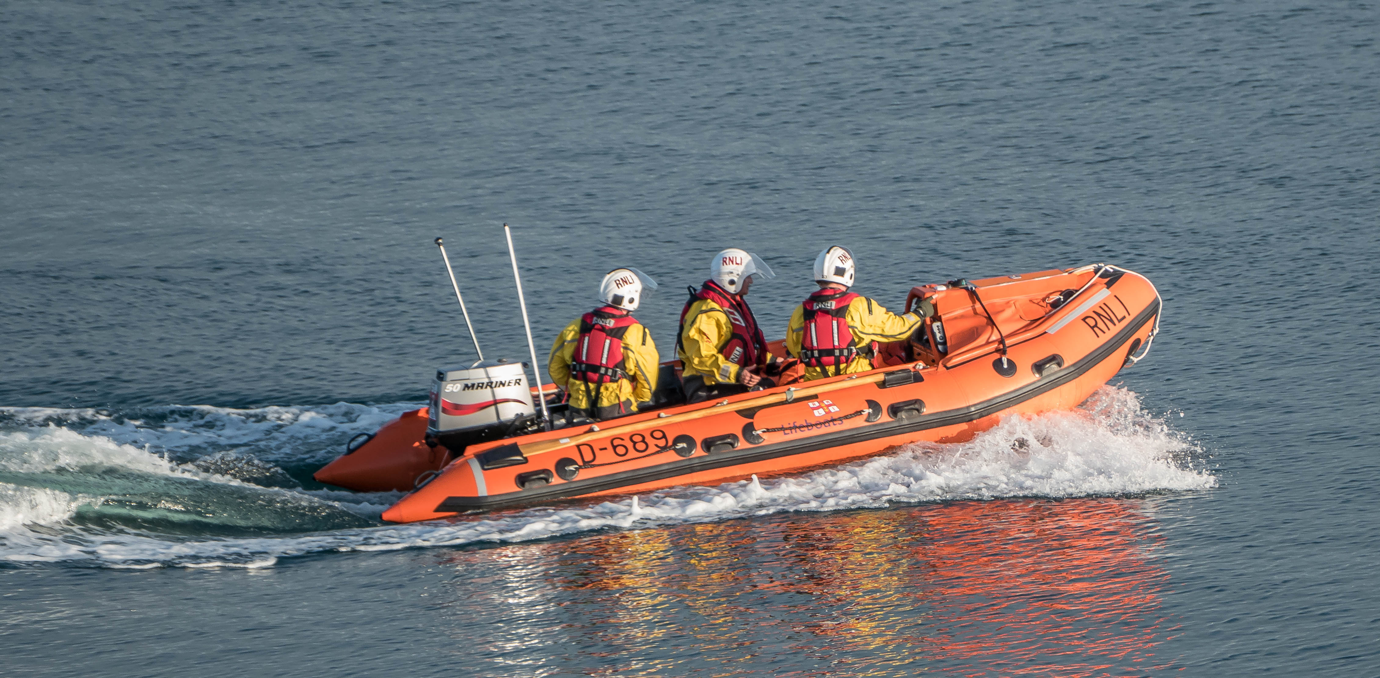 Moelfre inshore lifeboat on the water