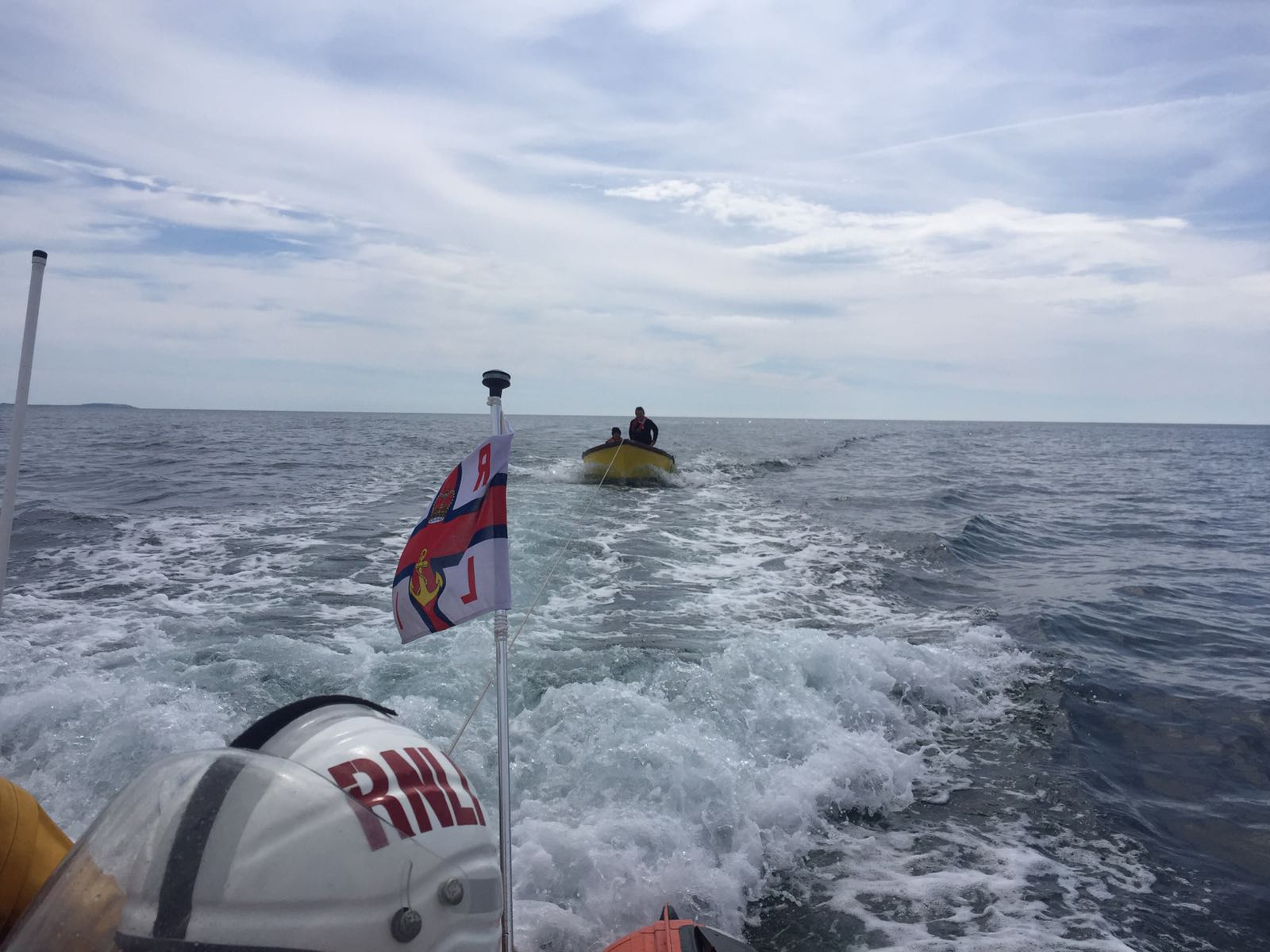 Fethard RNLI tow vessel with two onboard to safety