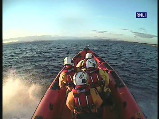 During a recent callout to Rossnowlagh, the lifeboat was flanked by a dolphin for a few moments as it left the Bundoran area.