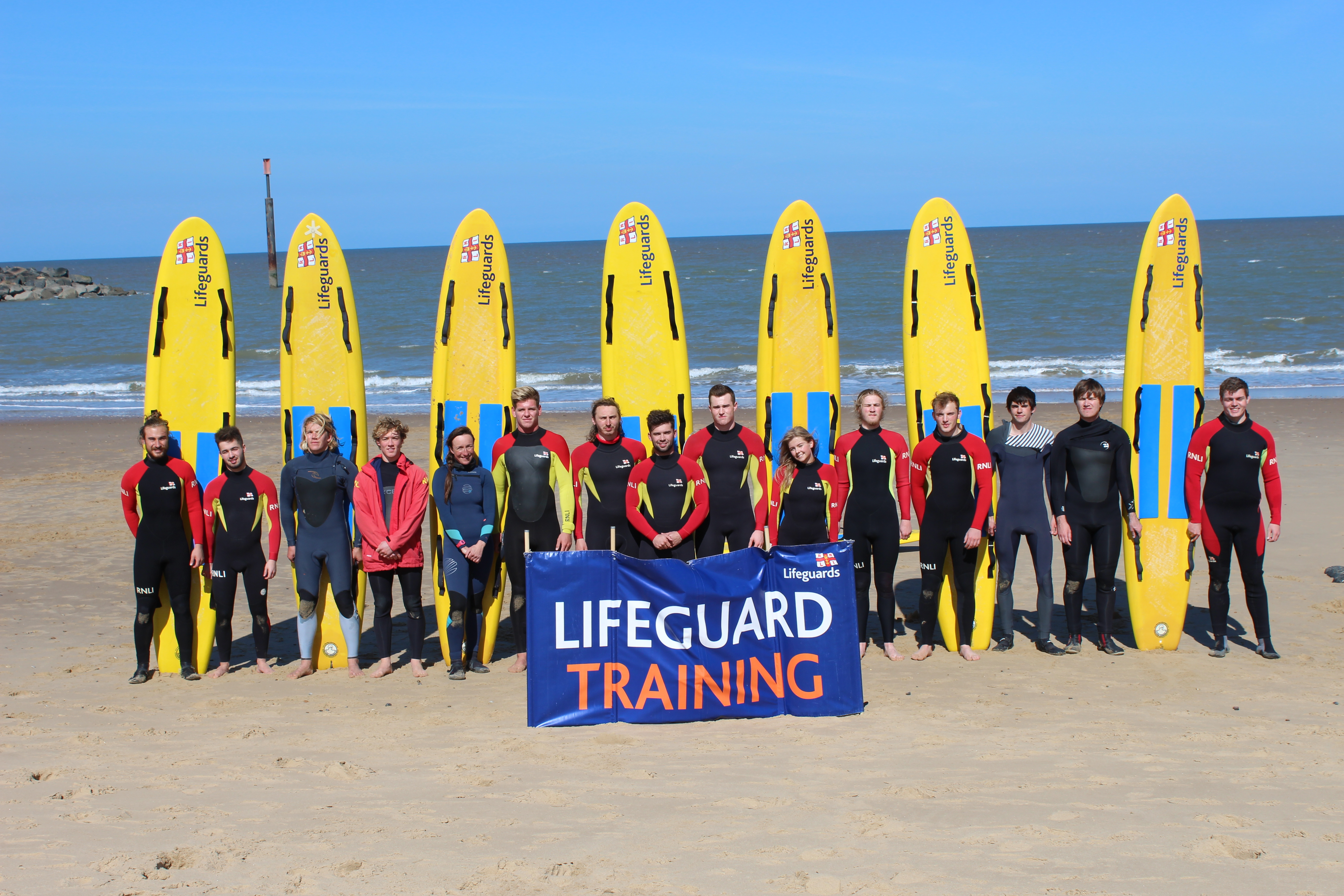The 2017 RNLI Norfolk lifeguard team