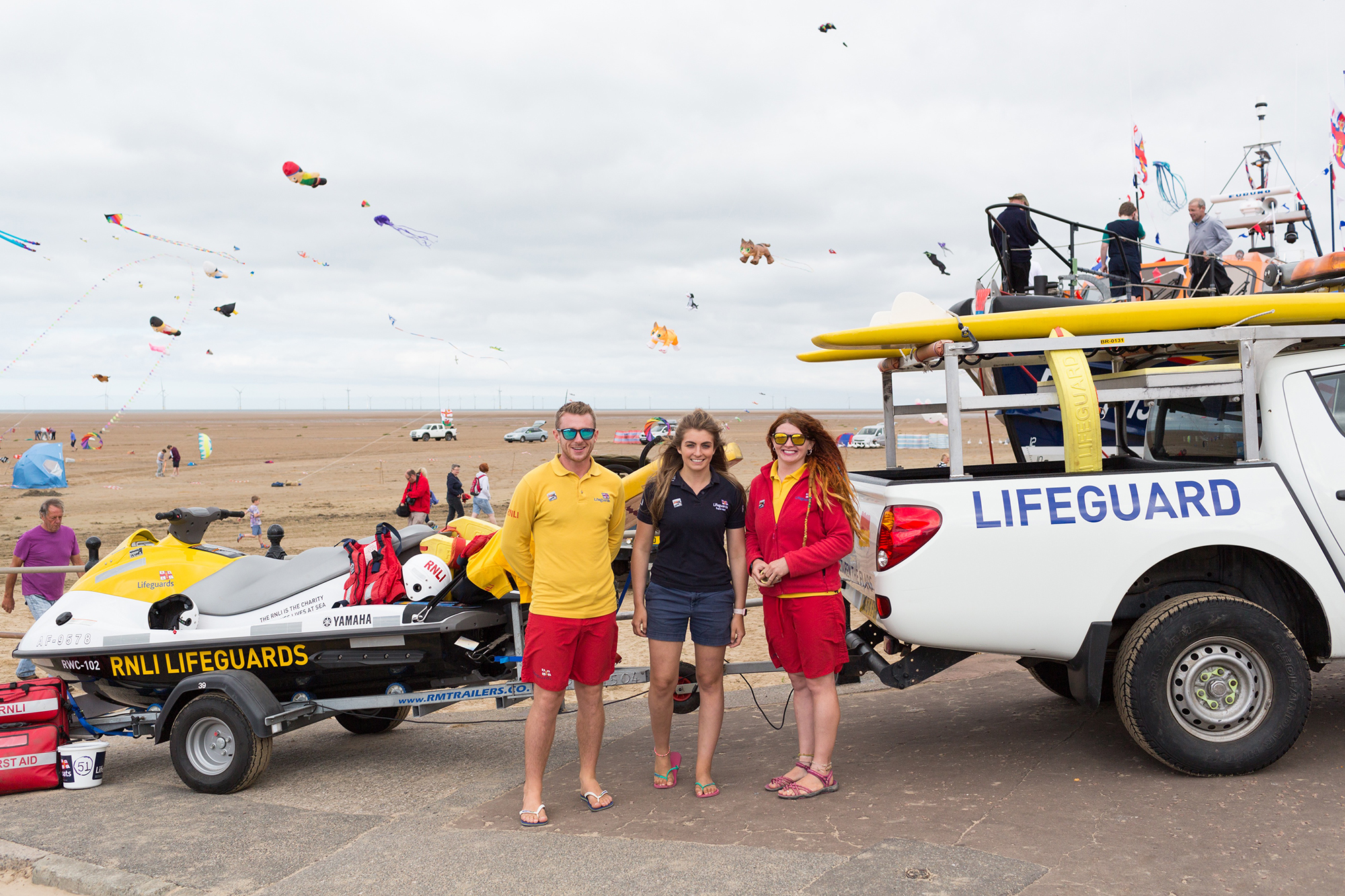 RNLI Wirral lifeguards at Hoylake Open Day 2017