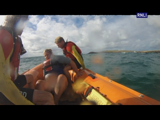 Constantine IRB was called to assist Treyarnon lifeguards with a kayak that had capsized late yesterday afternoon.