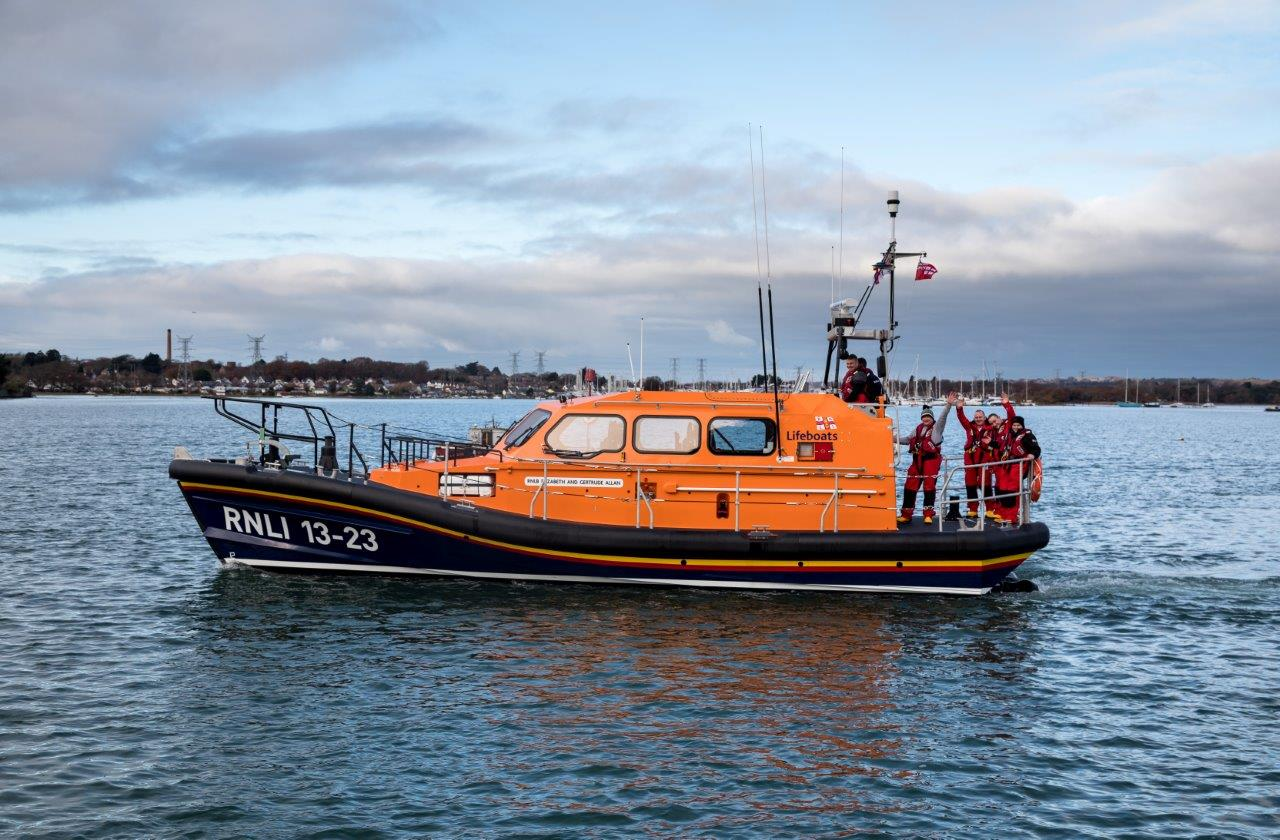 Girvan's new Shannon class lifeboat and her crew depart Poole