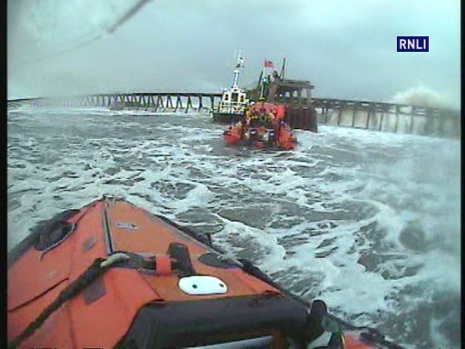 Volunteer Crew were paged at 14:20 and both Inshore Lifeboats were launched at the request of UK Coastguard to reports of a casualty on the East Pier at the entrance to Blyth harbour. The crews were on scene shortly afterward and located the casualty by the lighthouse. A crew member was transferred to the Blyth pilot boat and then climbed up the pier to escort the casualty to safety.