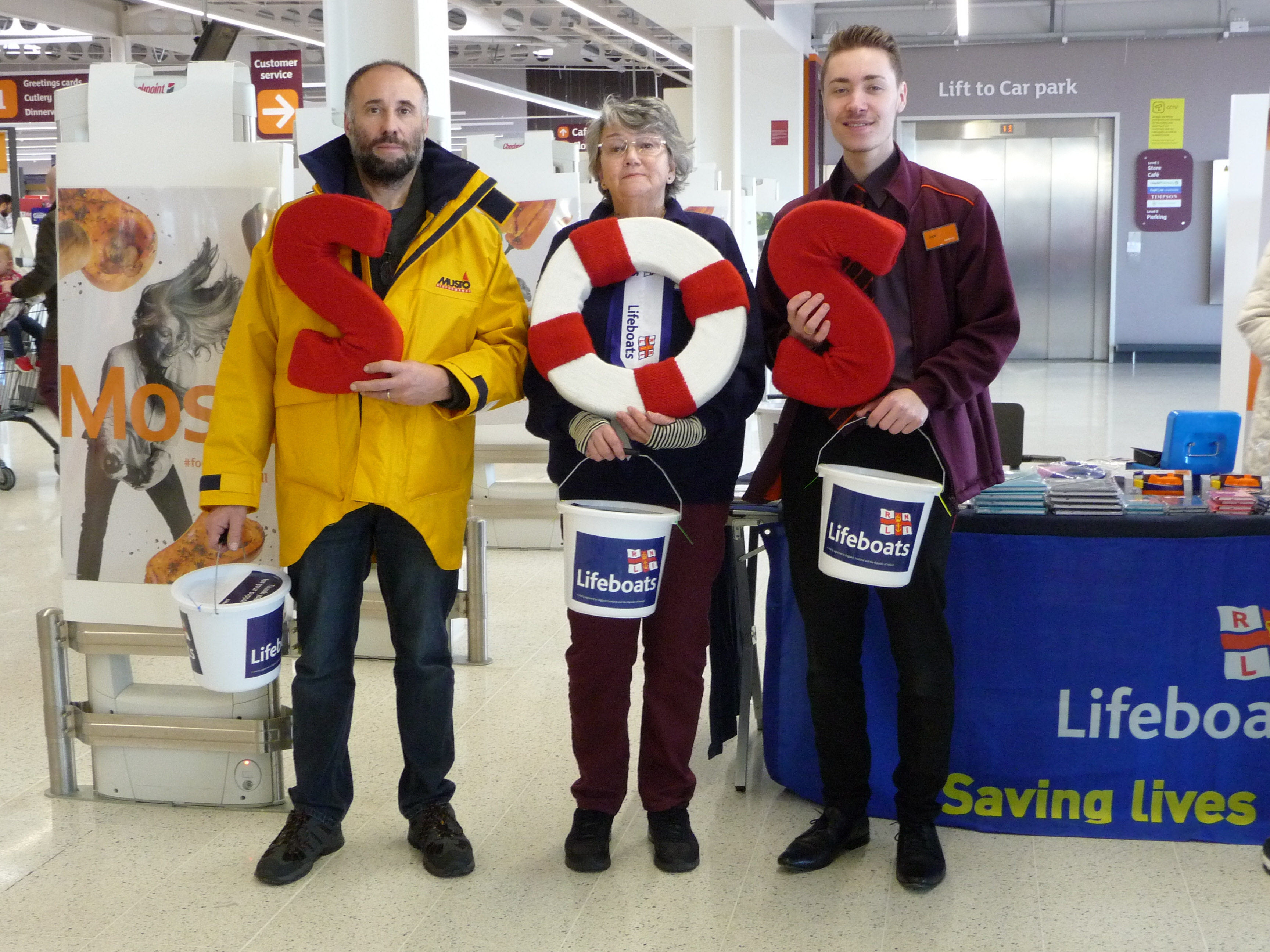Members of the Ramsgate team collecting for SOS Day 2017