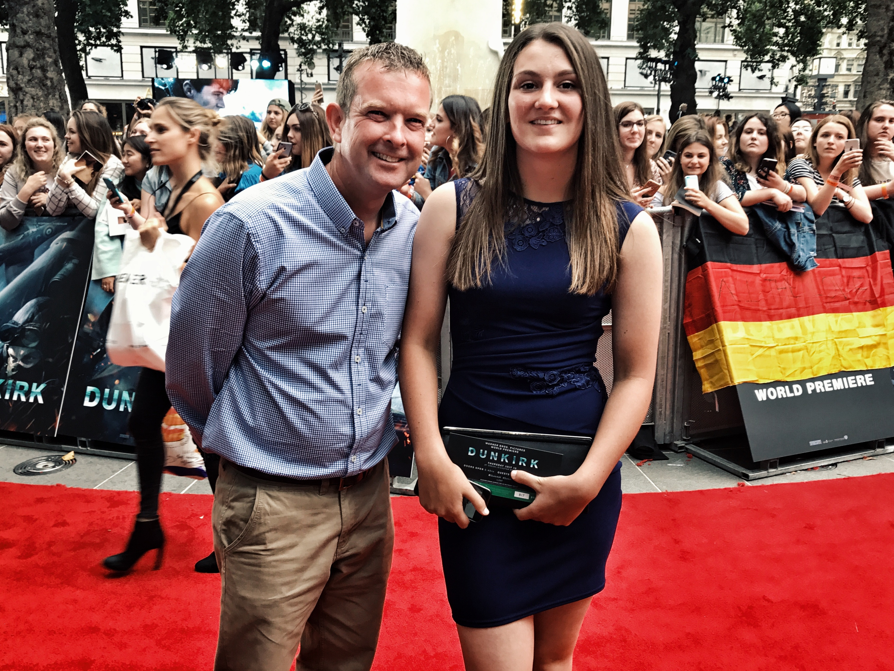 Ramsgate Coxswain Ian Cannon and daughter Becky at Dunkirk premiere