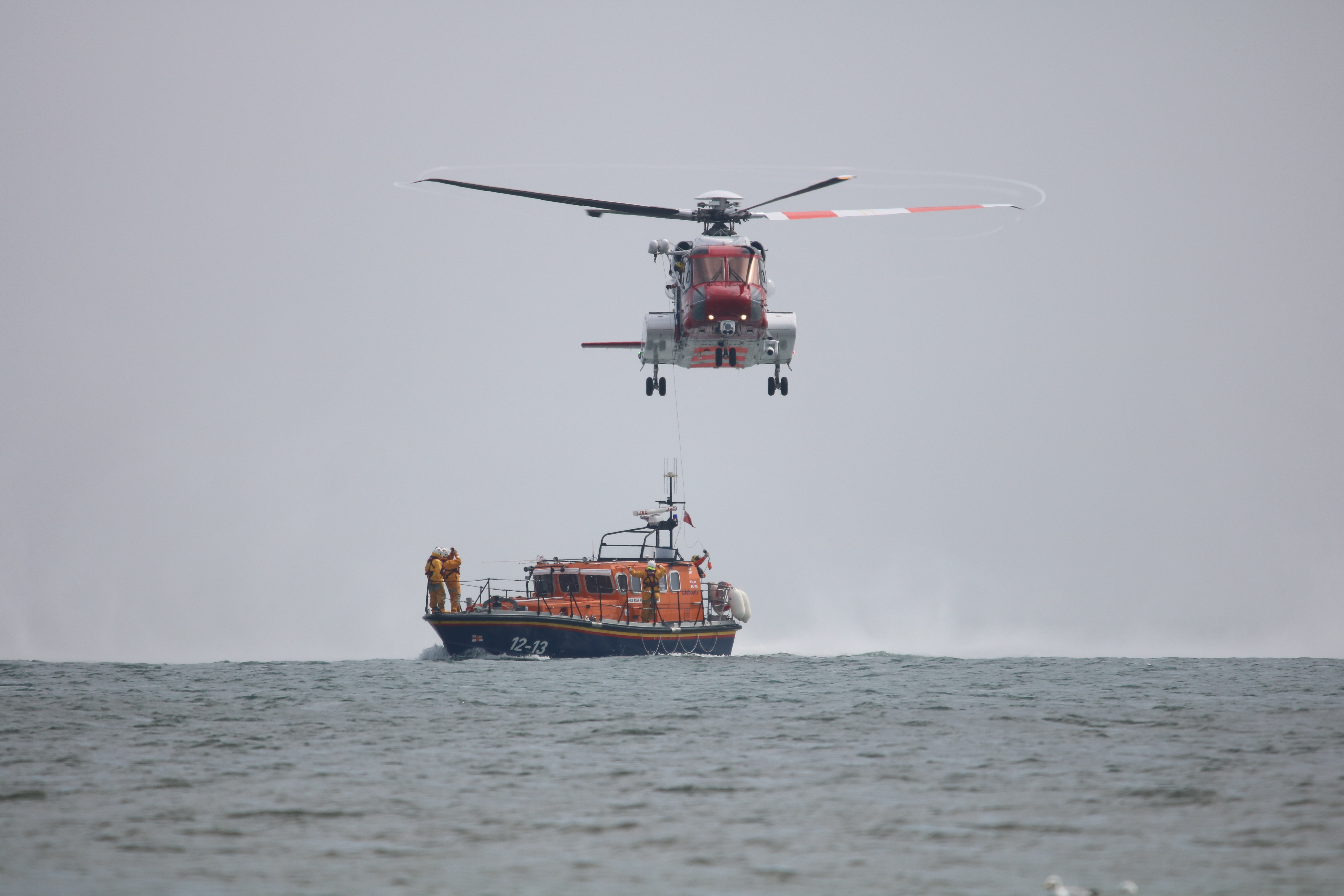 Helicopter working with Filey ALB