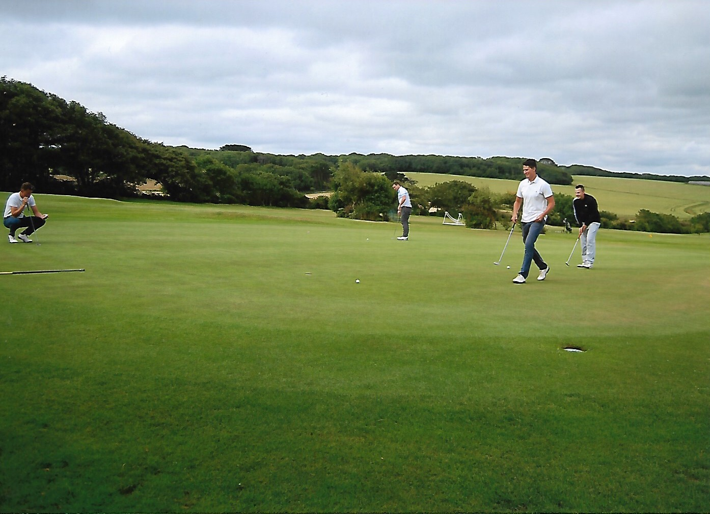 Golfers pictured in action during the 72 hole marathon