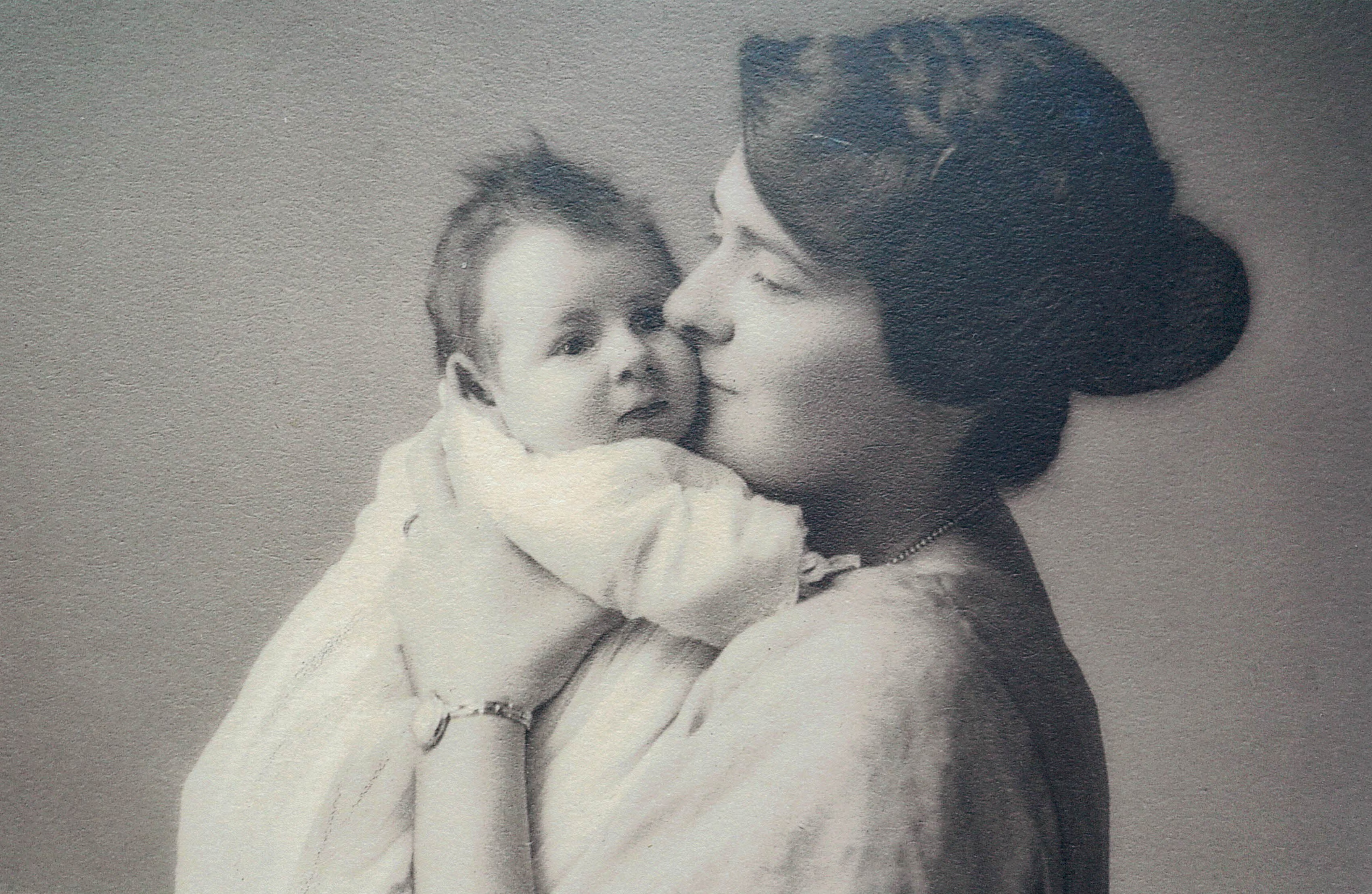 Diana Symon, whose generous donations funded the new lifeboat, pictured as a baby with her mother Norah Wortley-Talbot, after whom the boat is named.