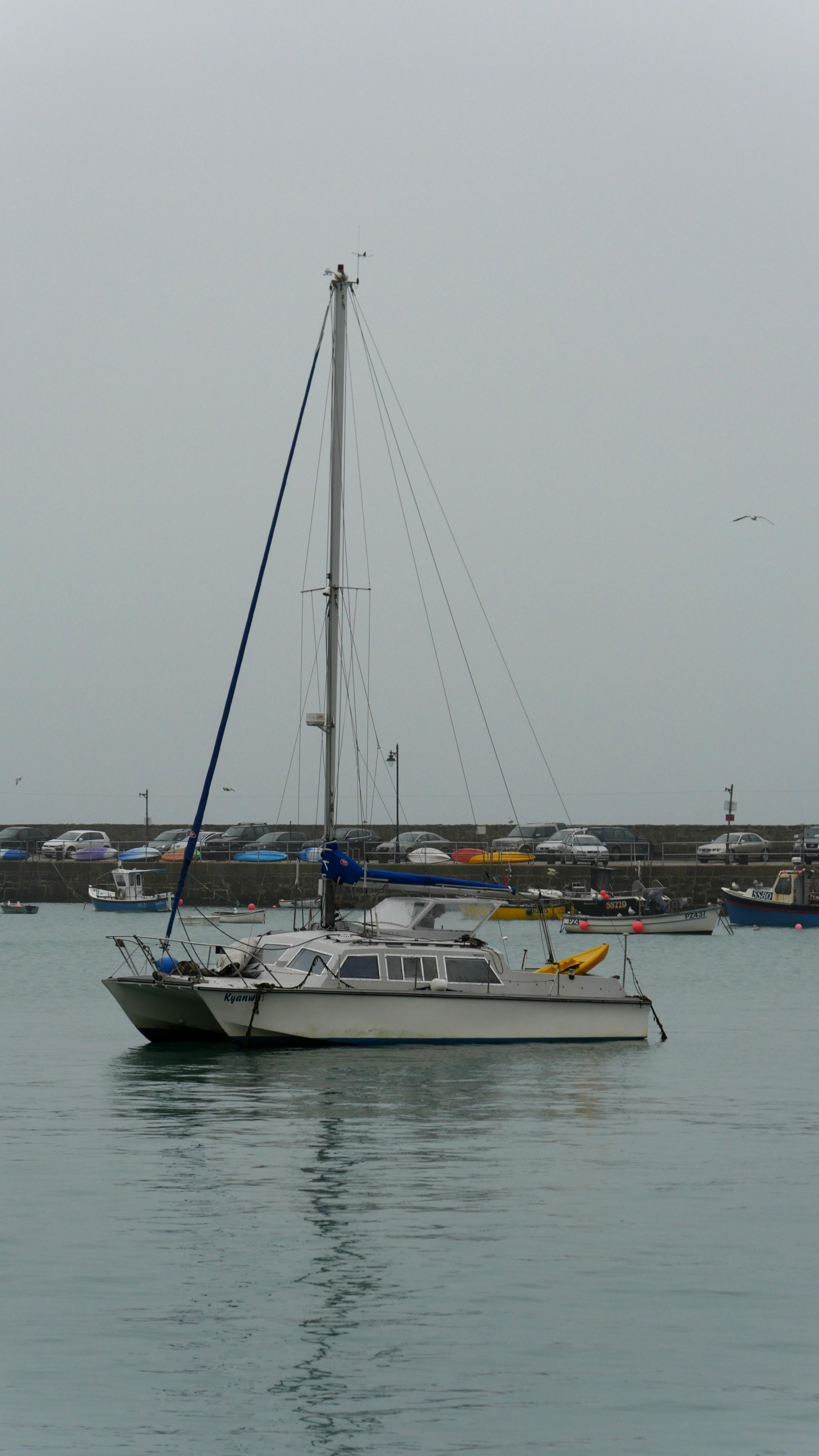 Casualty vessel in St Ives harbour