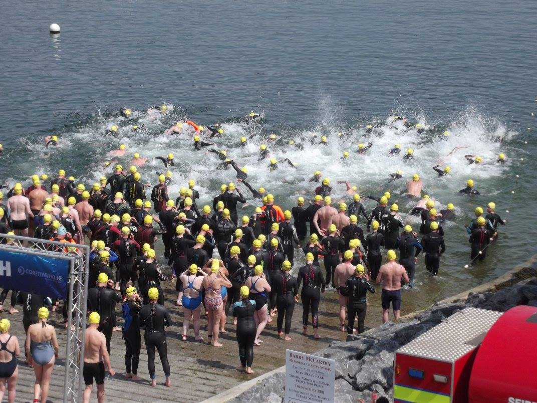 The start of the 2016 Dunmore East RNLI open water swim