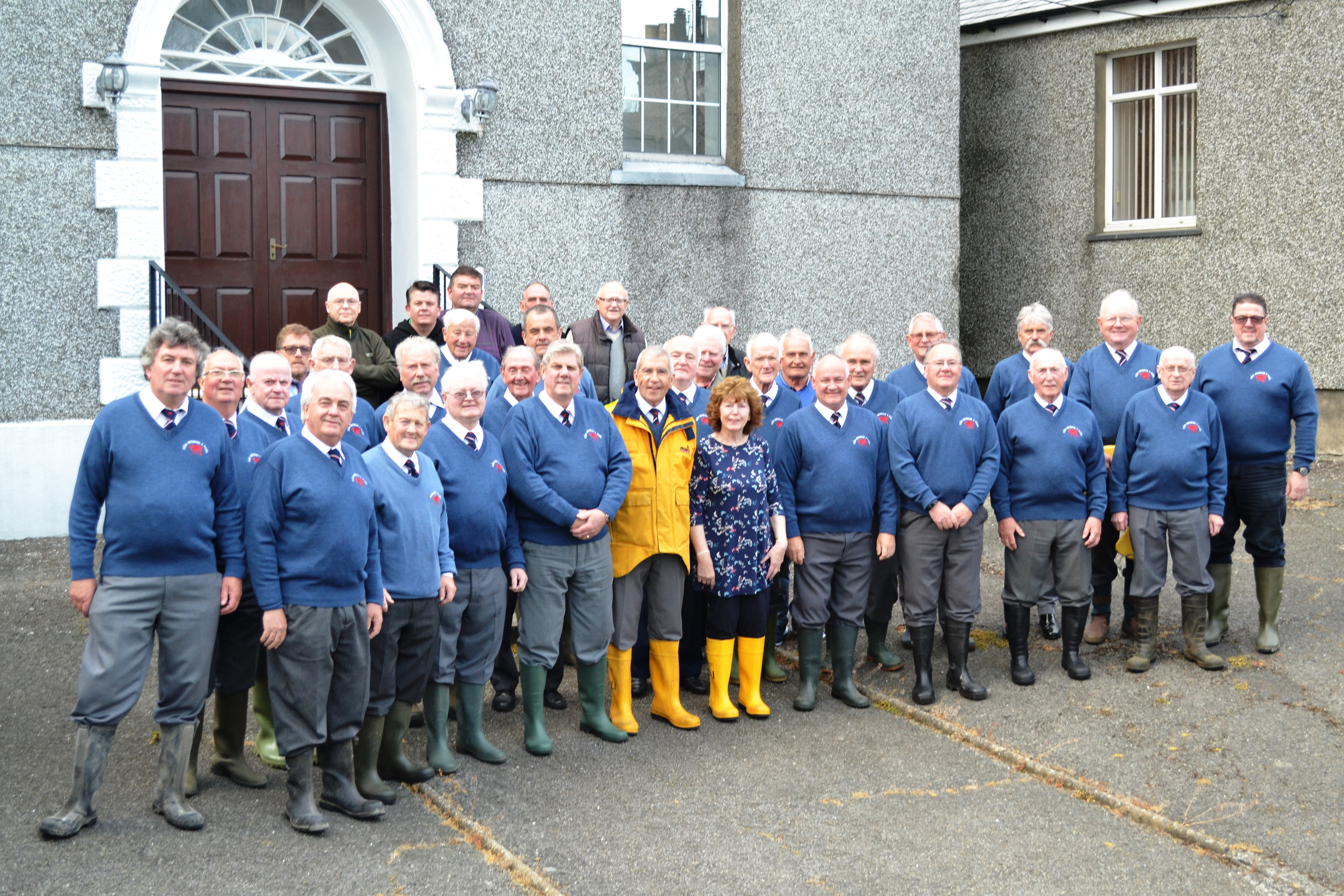 Cor Meibion y Foel (Male Voice Choir) support the RNLI's 2017 Mayday campaign,