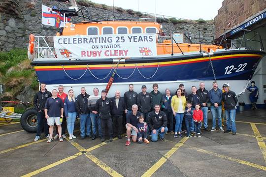 25 years of Peel RNLI's lifeboat Ruby Clery celebrated