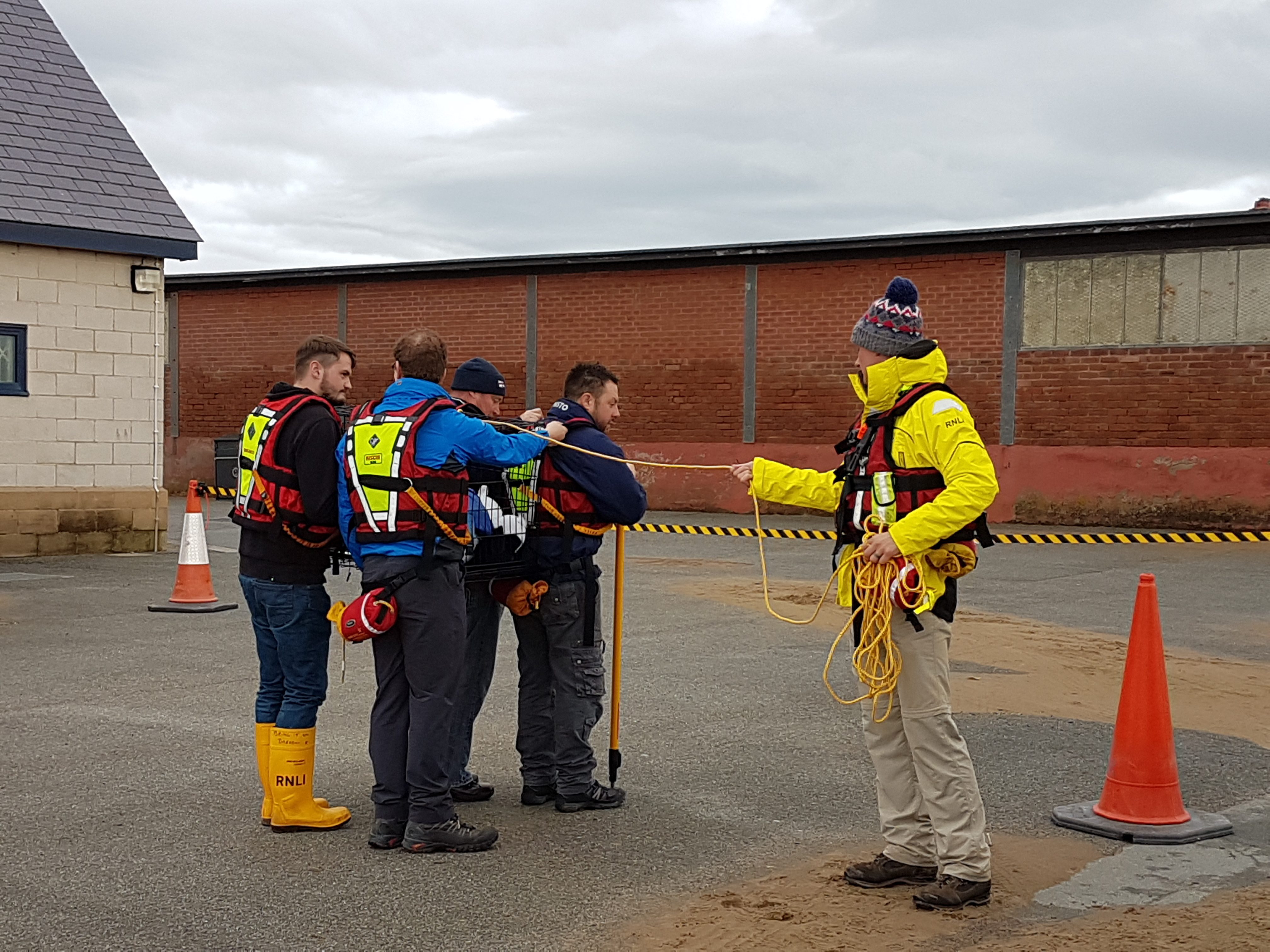 Members of the Welsh RNLI Flood Rescue Team trained with the Cumbria Community Flood Team in preparation ahead of the winter months.