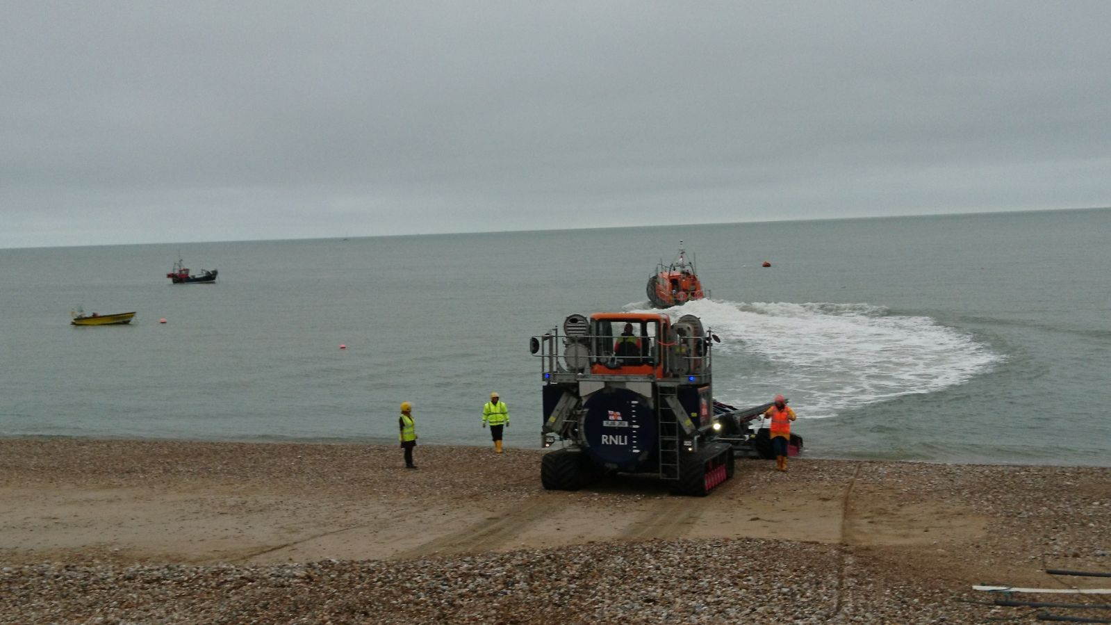 Selsey lifeboat launching