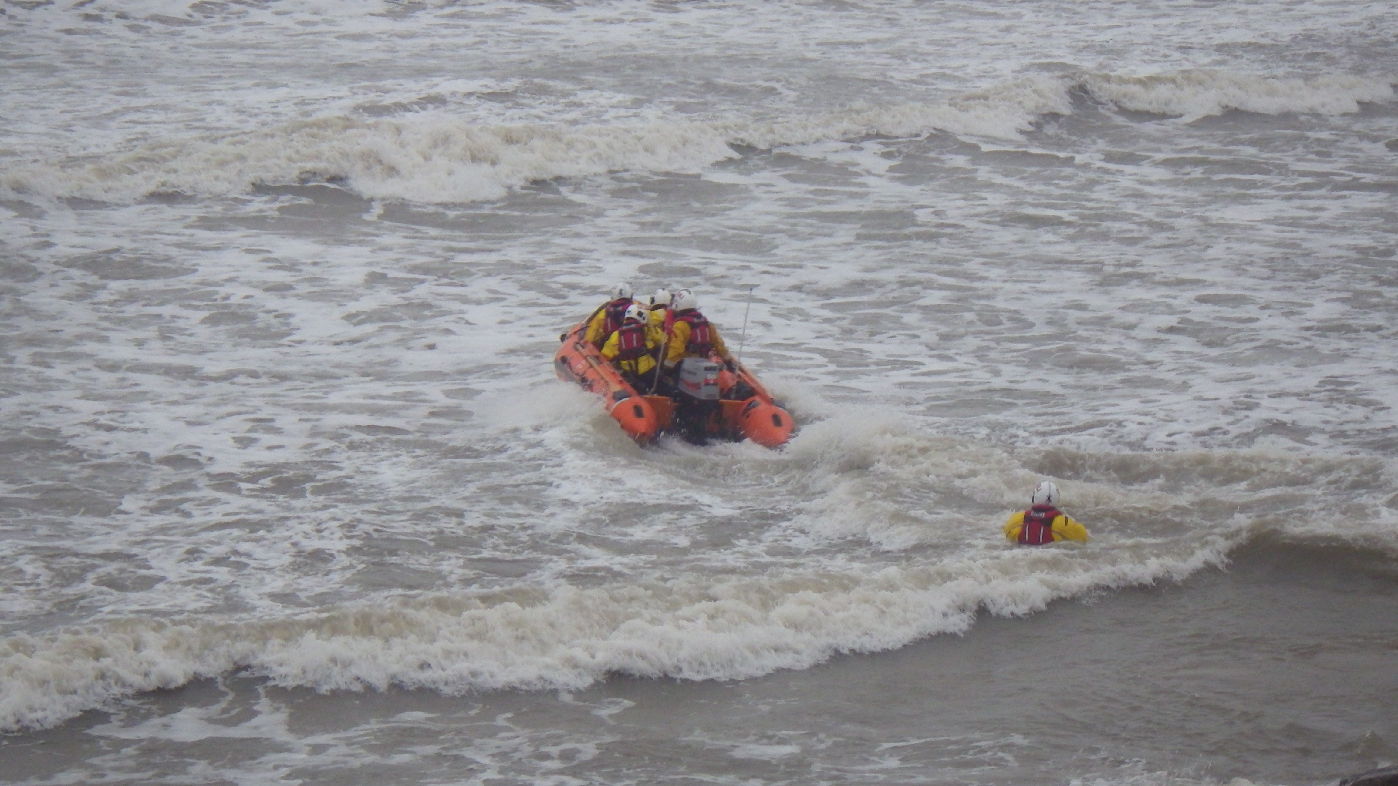 The lifeboat on its way to the casualty