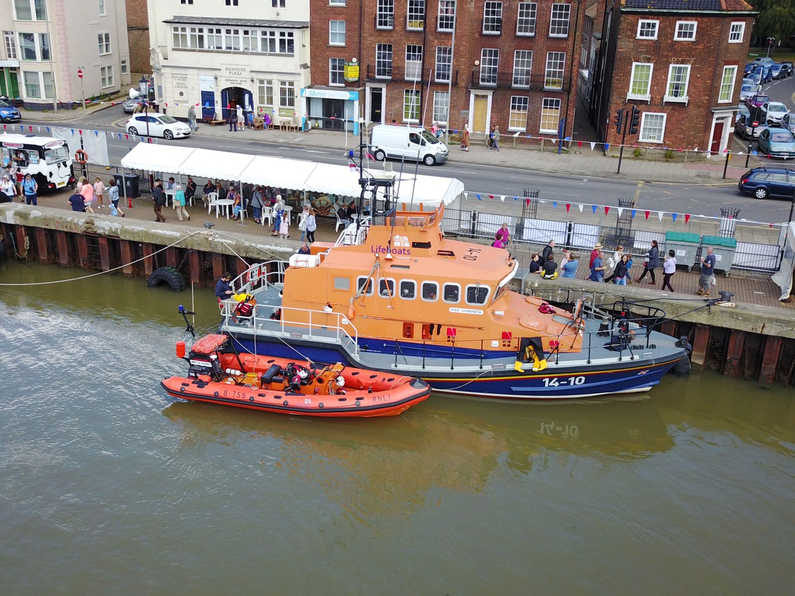 Both RNLI lifeboats at the festival