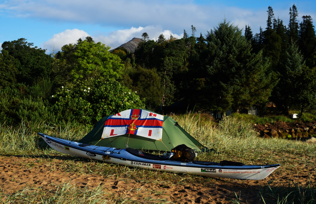 Wild camping during Nick Ray's Scottish Island Peaks Challenge