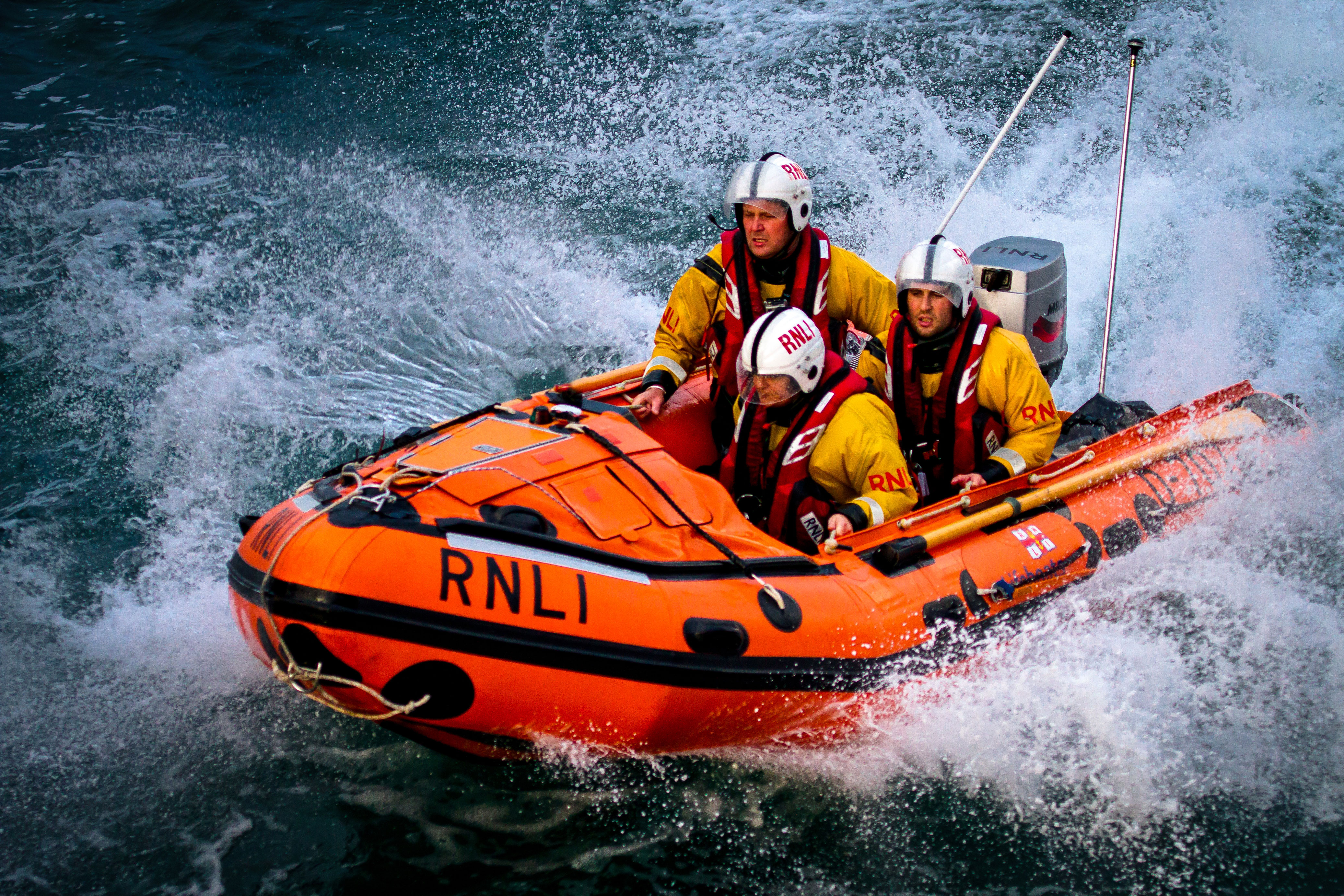 Stock image of an RNLI D class inshore lifeboat