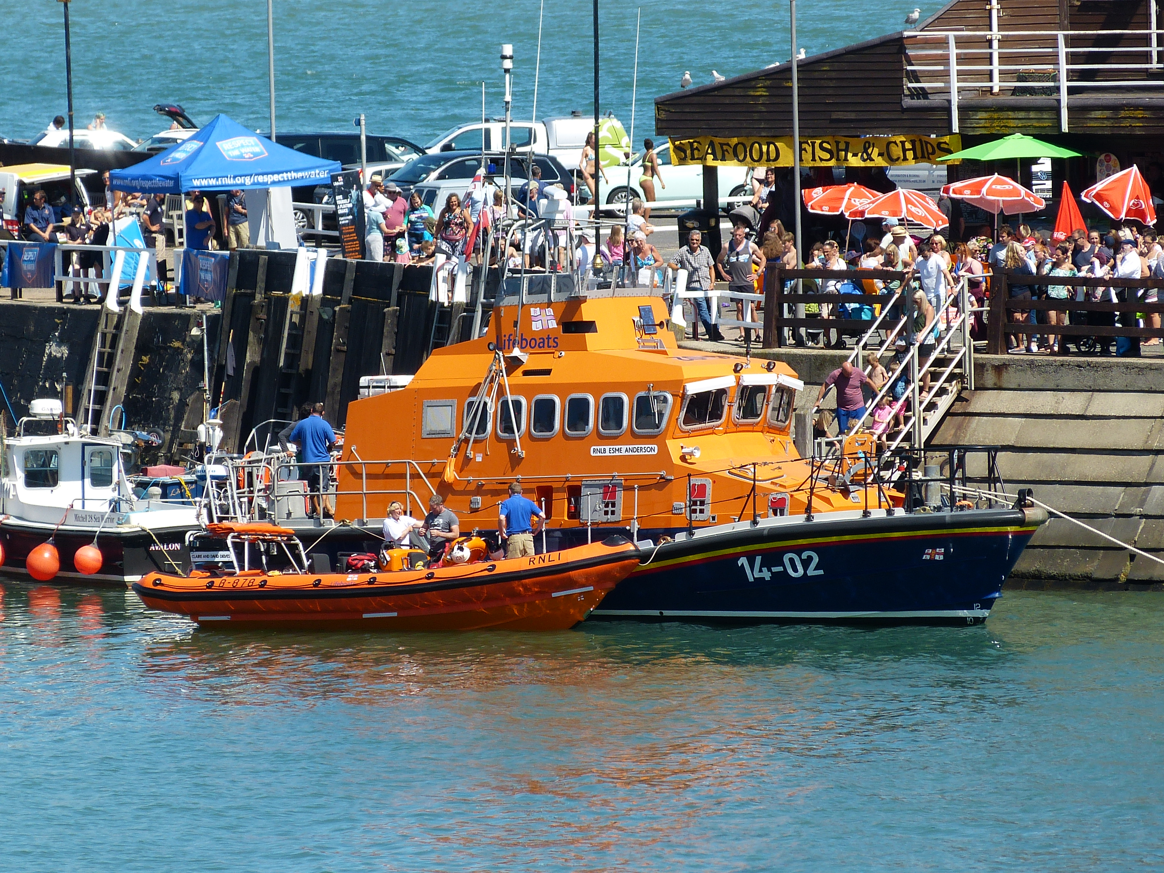 Huge crowds turned out for the opportunity to look around the Ramsgate lifeboat.