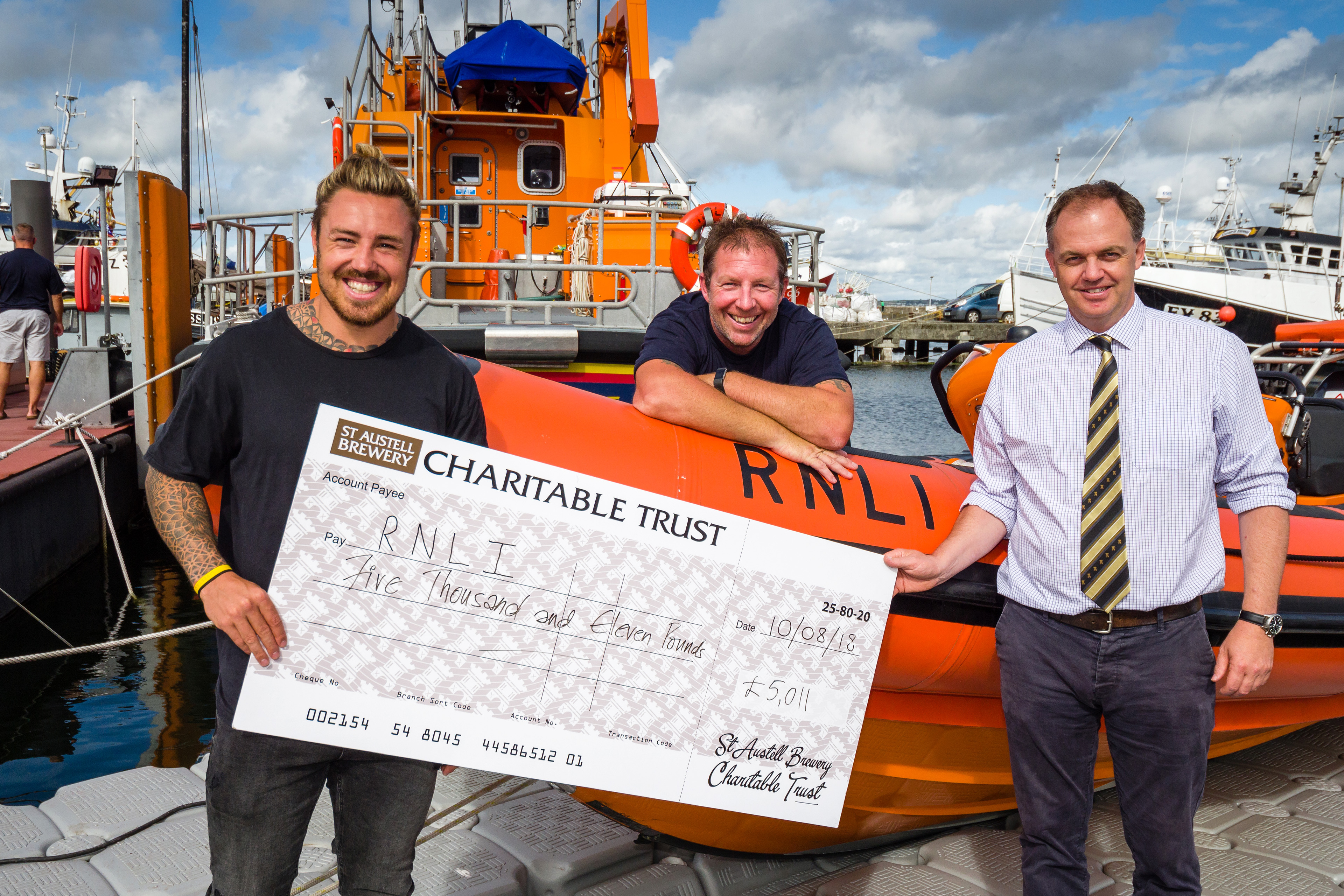 Cheque presentation at RNLI Penlee