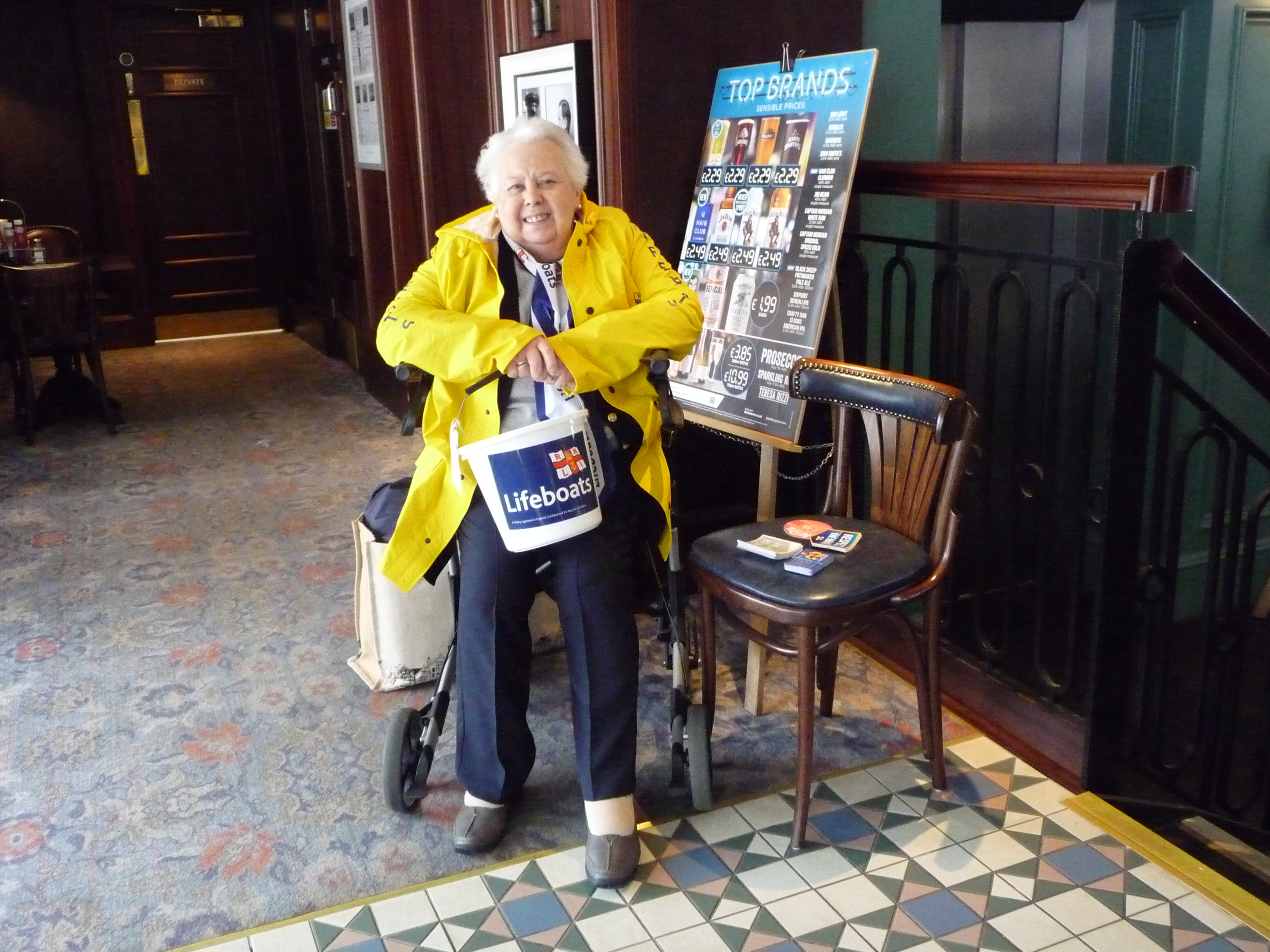 Elsie fund raising earlier this year in Wetherspoons Ramsgate
