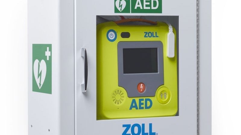 An AED similar to the one that it is hoped to place at Lerwick lifeboat station
