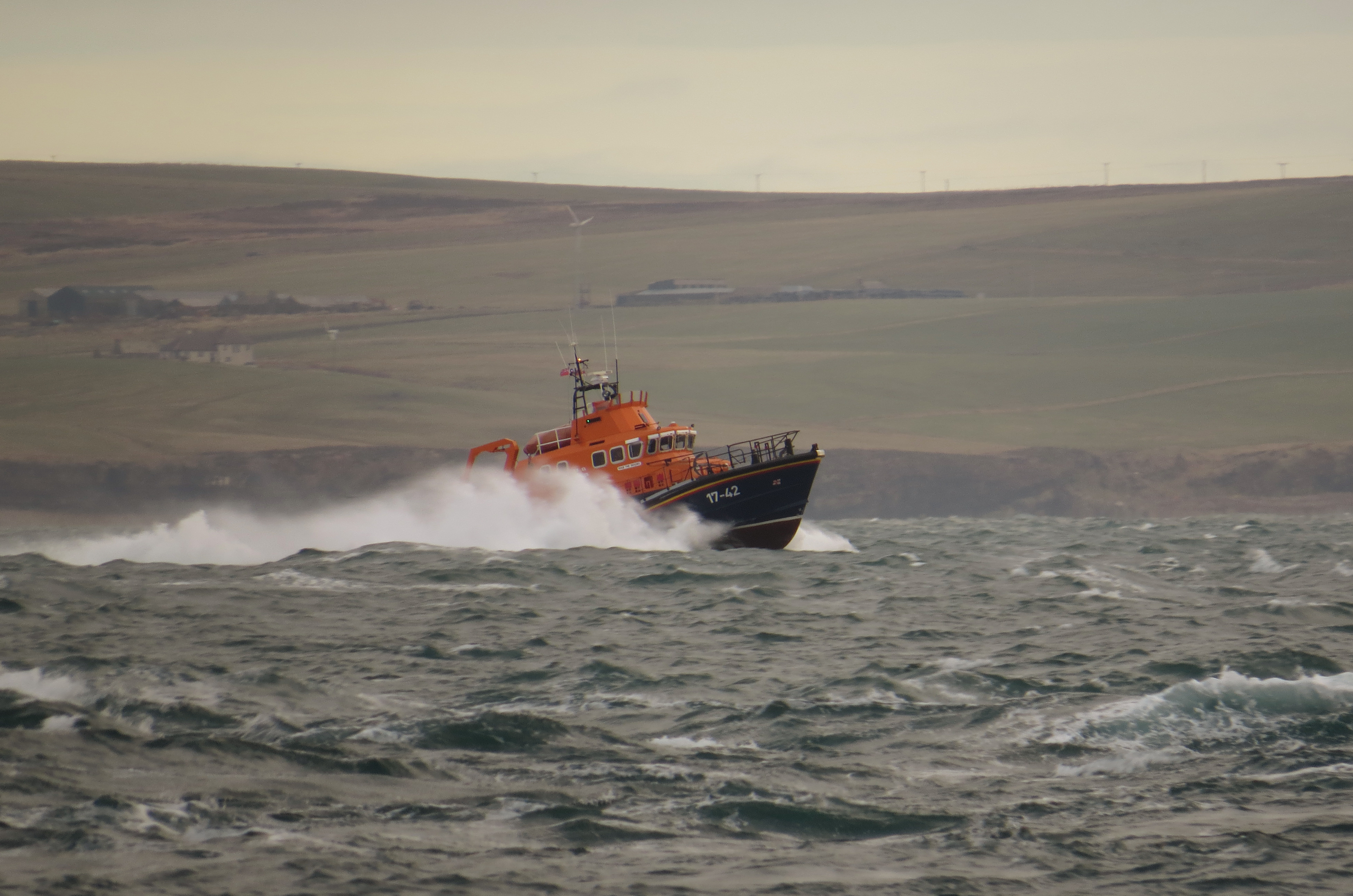 File picture of Thurso lifeboat in action