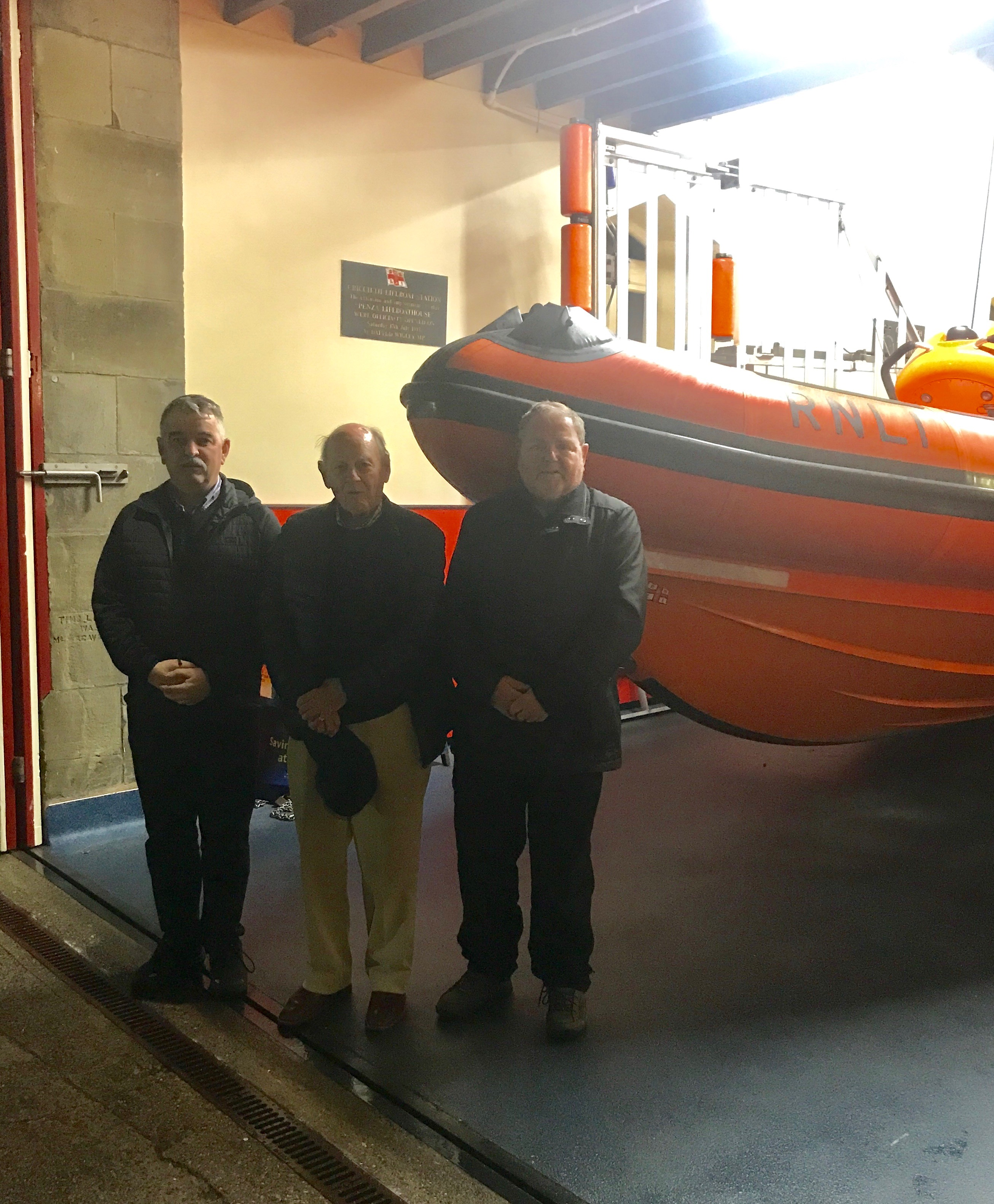 At the recent Annual Open Meeting of Criccieth RNLI Lifeboat Station, major changes were announced with the departure of the Station's long-serving Chairman Dr Elwyn Tudor Jones and changes at Lifeboat Operations Manager and Senior Helmsman.