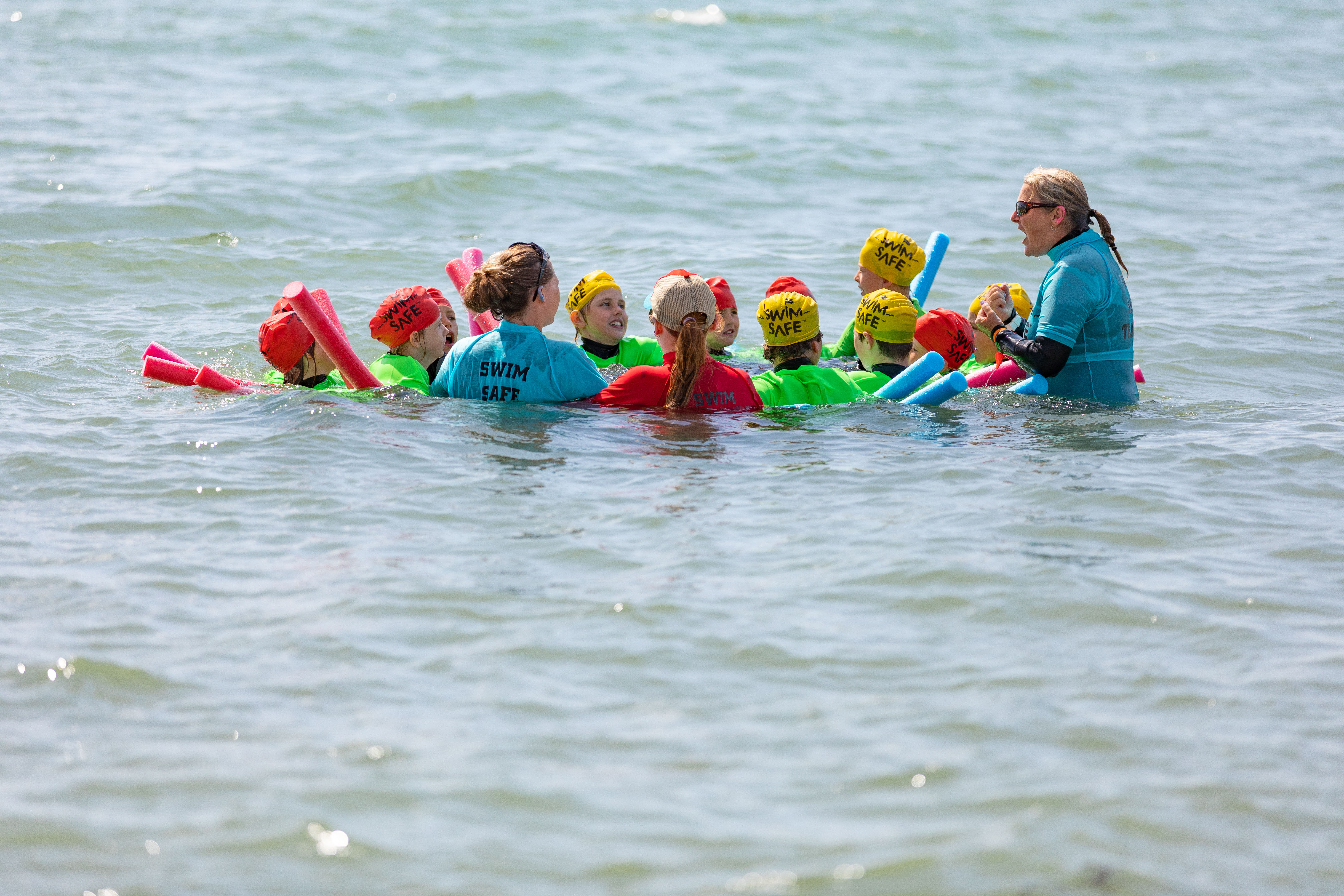 Teaching the youngsters how to stay safe in the water is a vital part of Swim Safe.