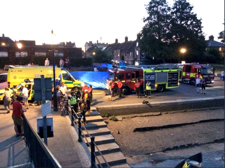 Teddington RNLI and other Emergency Services on Scene 8 July 2018