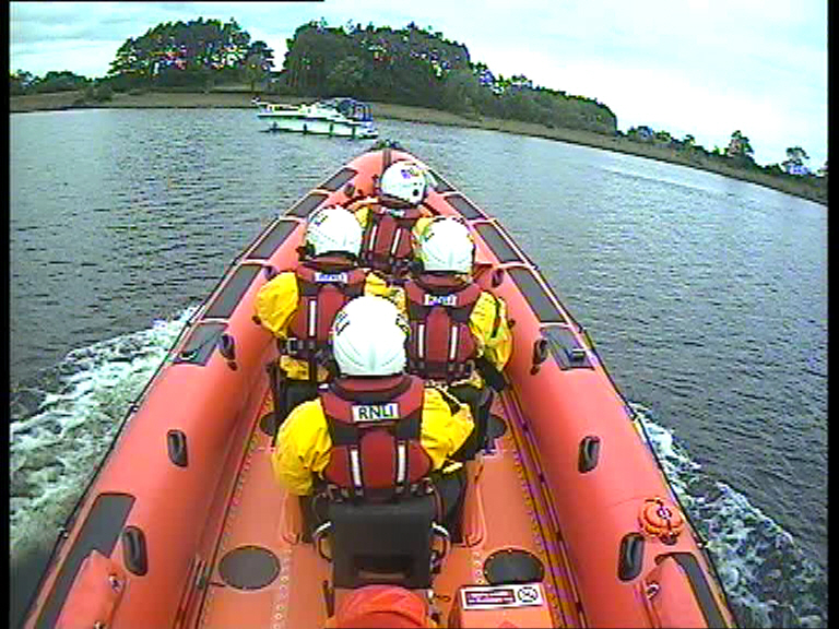 Carrybridge RNLI assist two people on a grounded vessel close to Inishcorkish Island