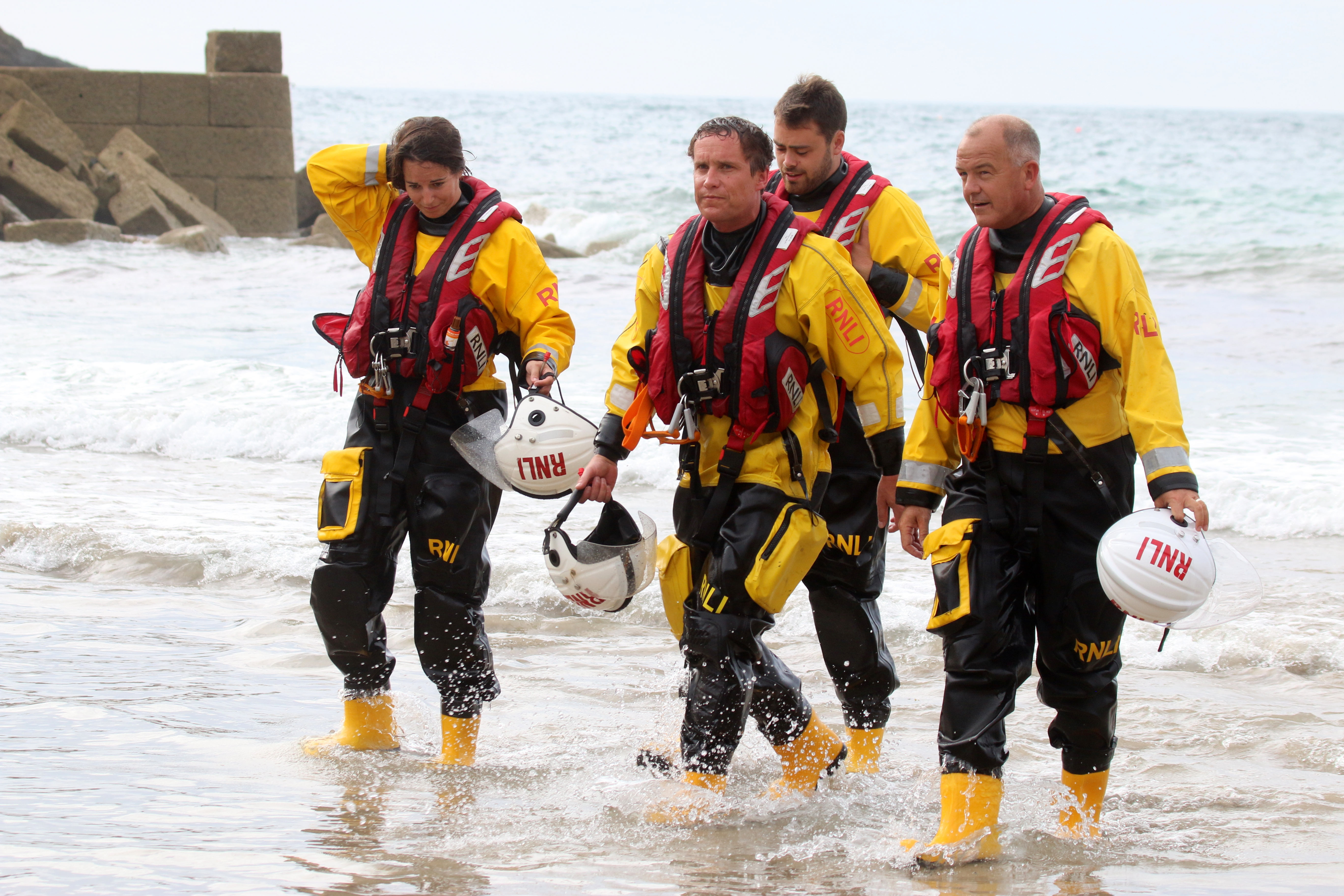 St Agnes lifeboat crew