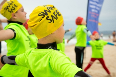 Child taking part in free Swim Safe session