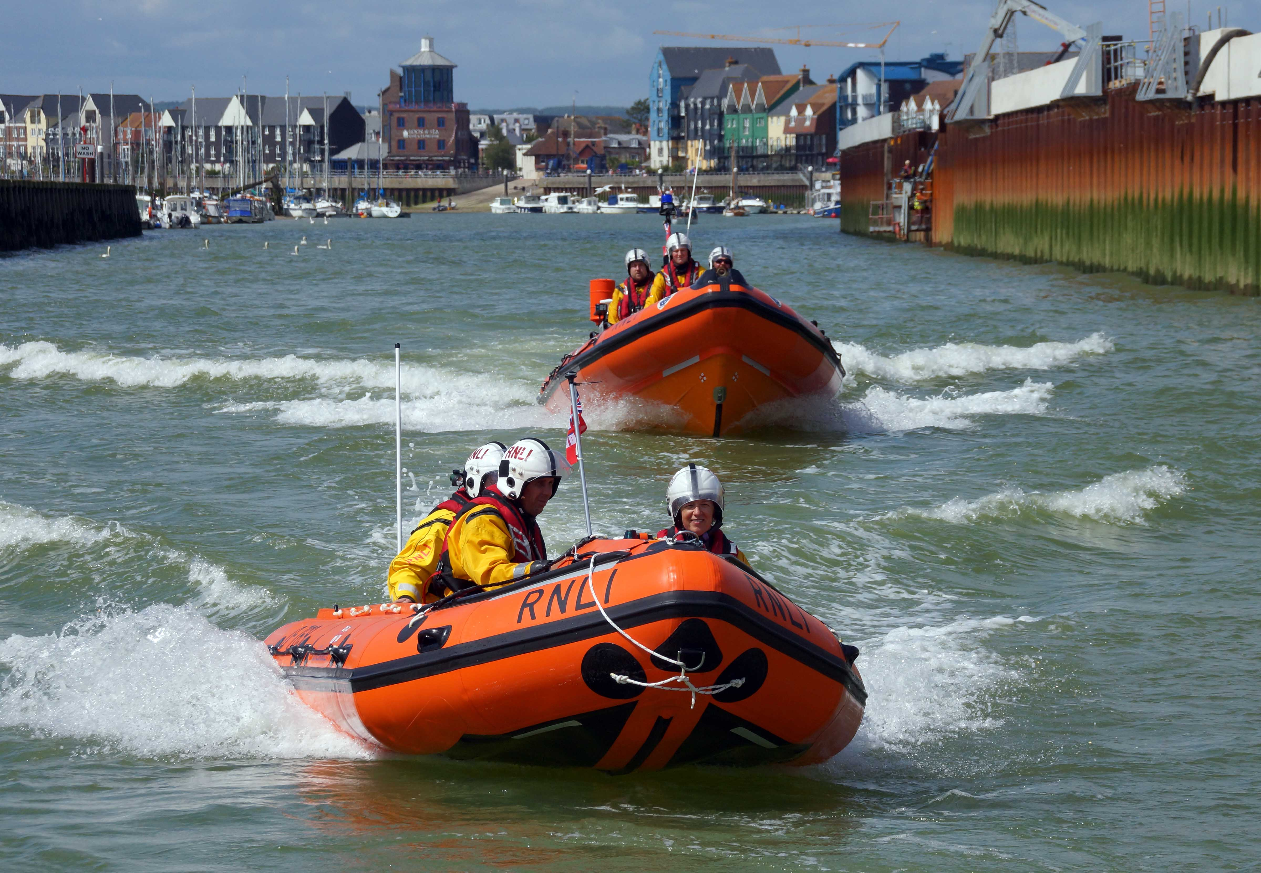 Both lifeboats heading out to the reported incident
