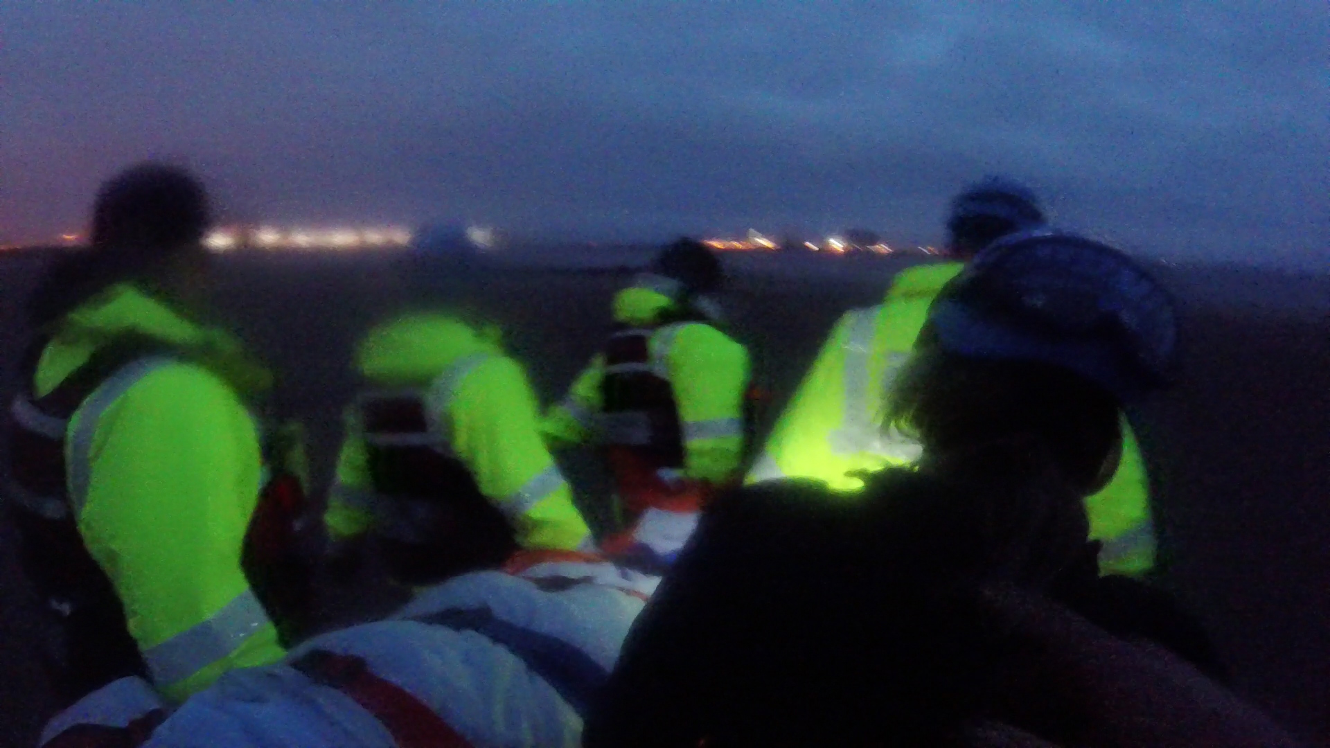 Rescue of man at South Gare, Redcar.