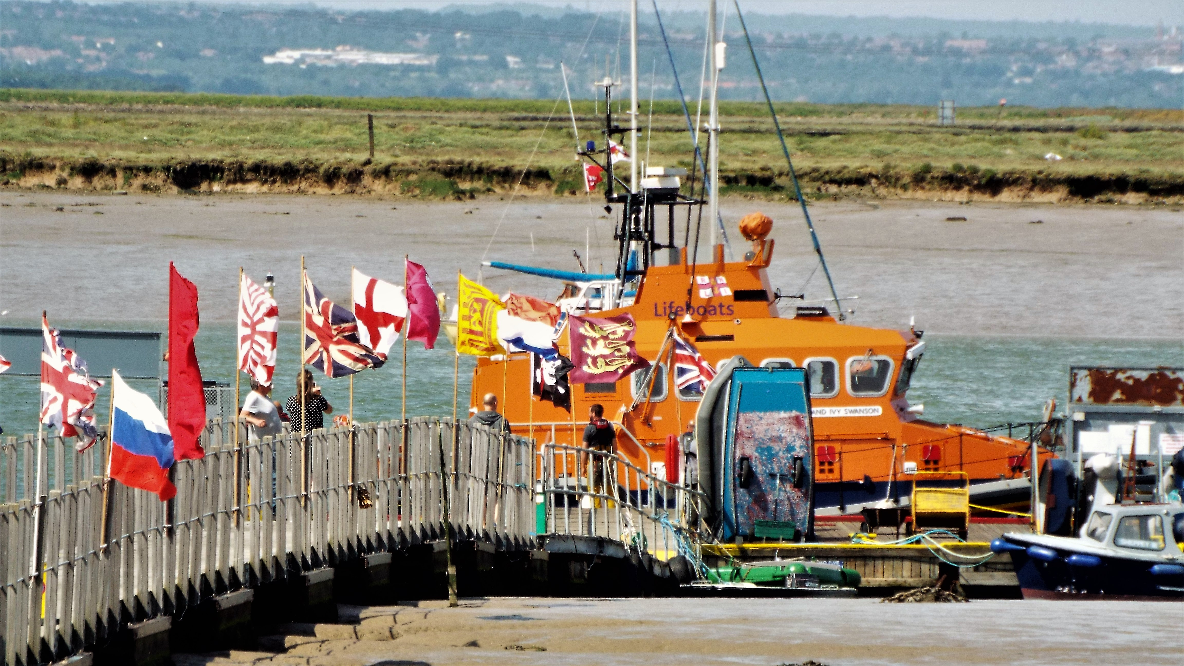 The george and Ivy Swanso alongside the Queenborough all tide landing at the Sheerness RNLI lifeboat stations open day