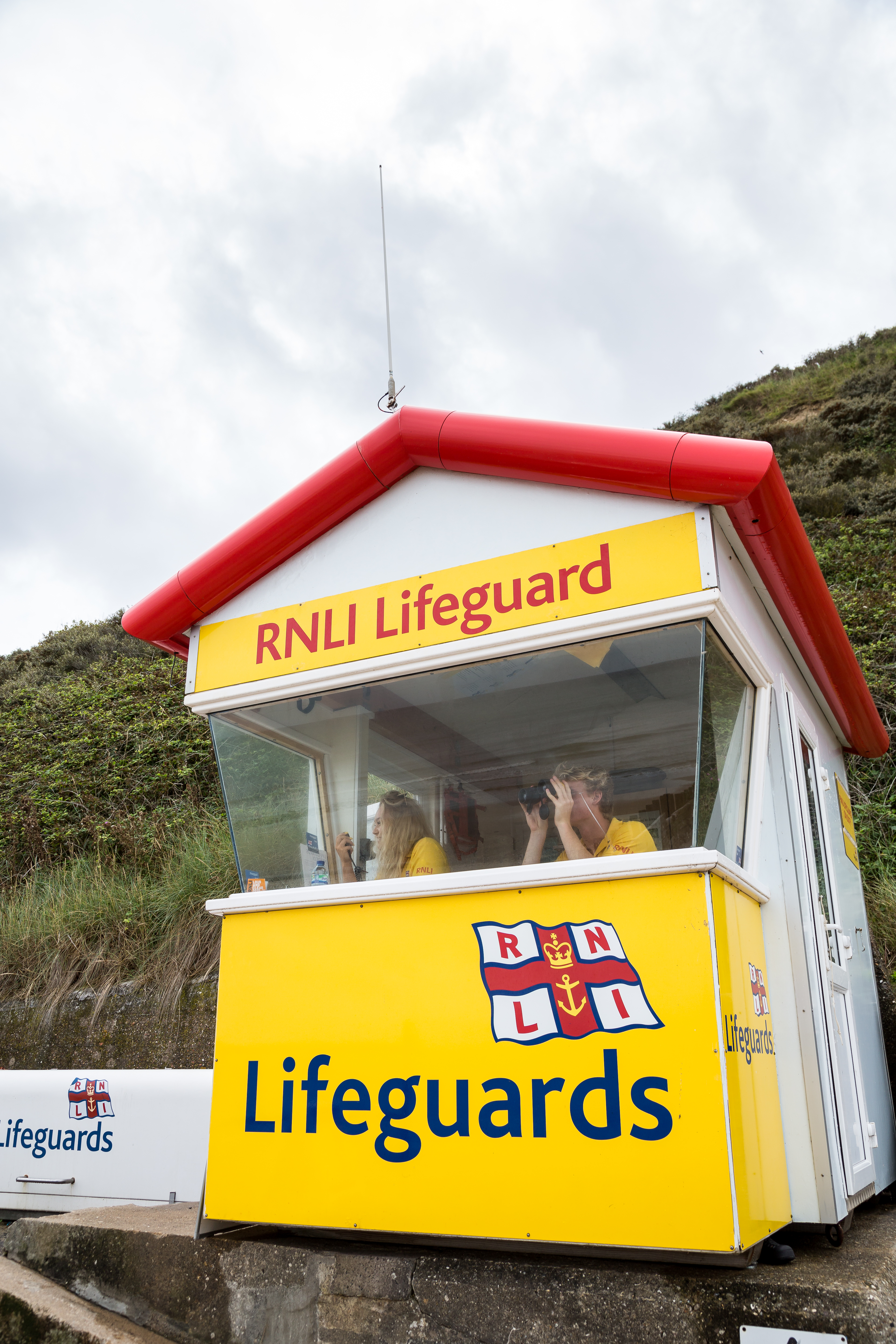 RNLI Lifeguards monitoring a beach
