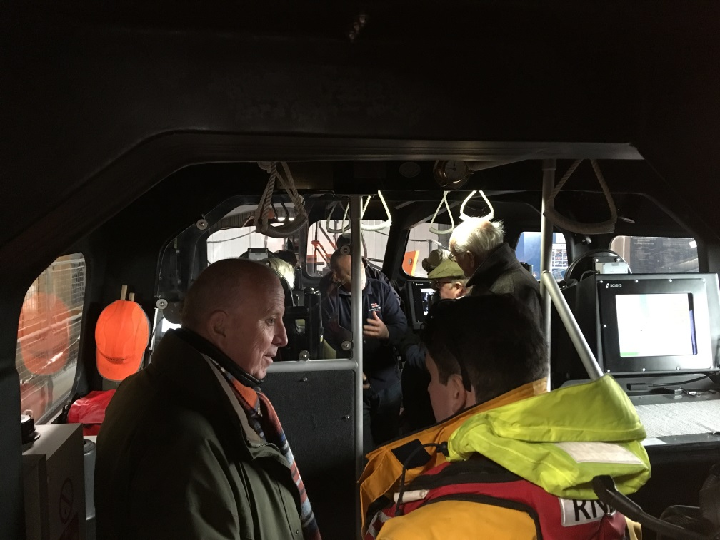 Visitors chat to crew aboard the Shannon RNLI lifeboat