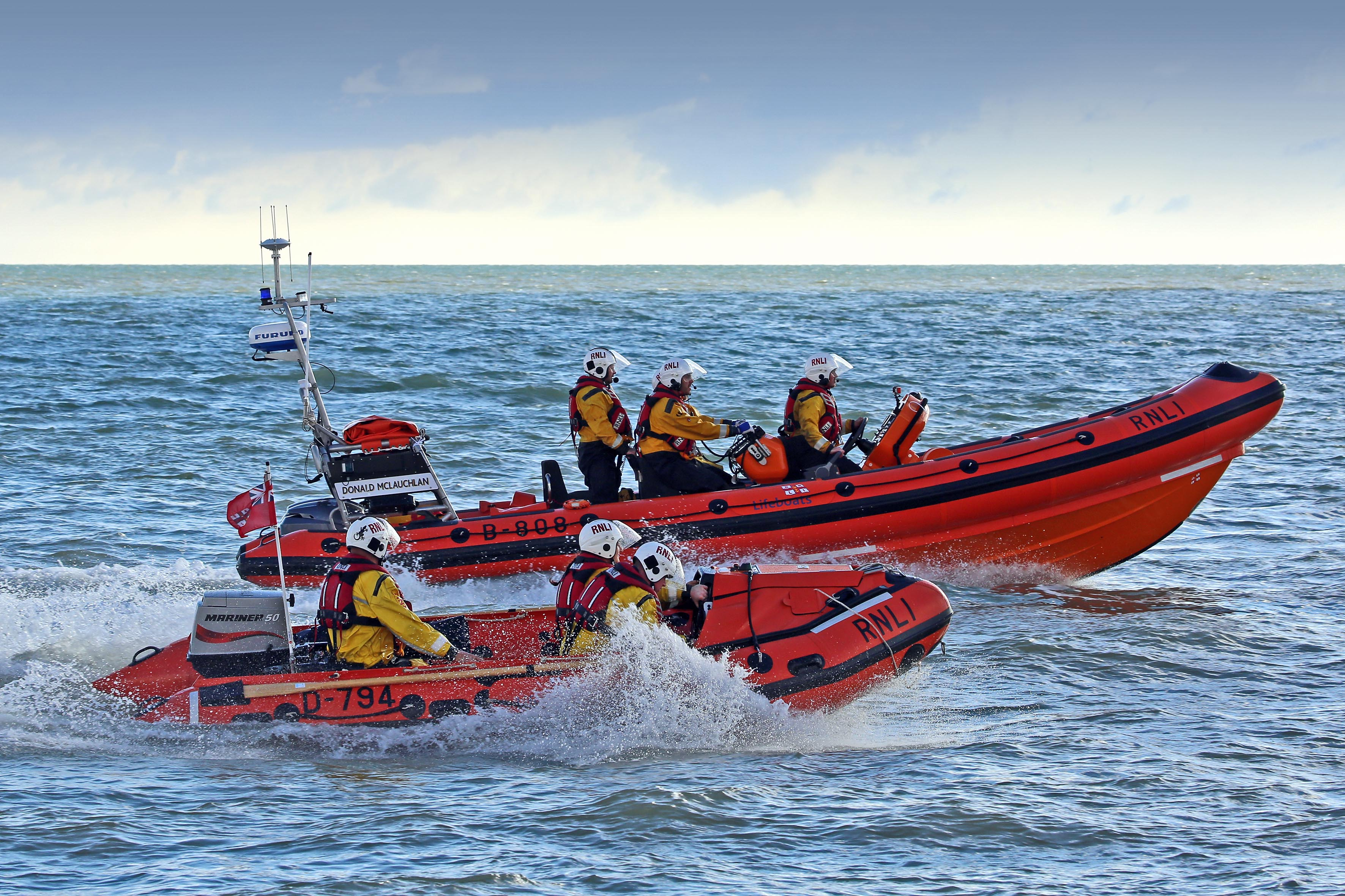 Walmer's Atlantic and D Class lifeboats