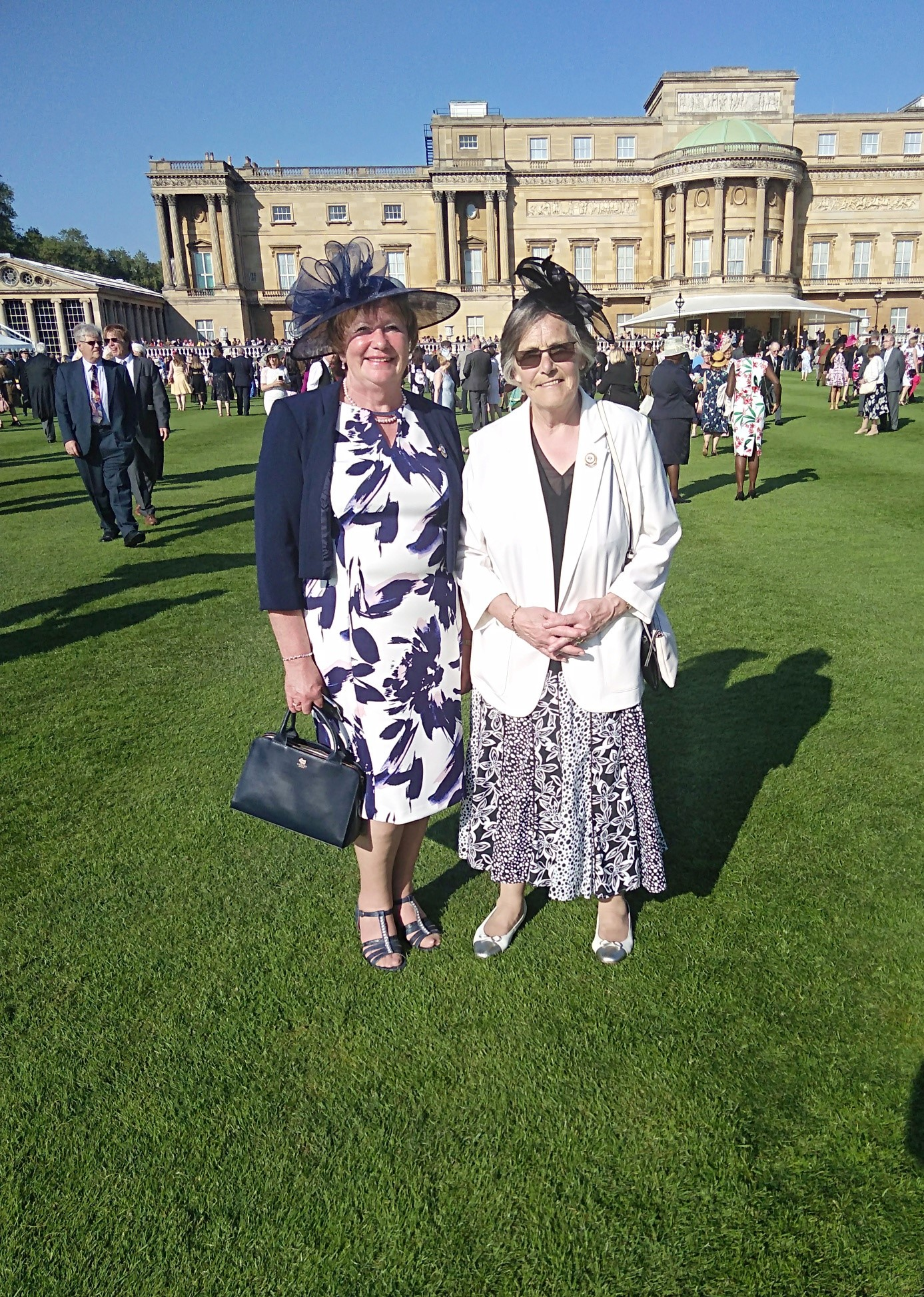 Caroline Kent and Gina Robinson at Buckingham Palace