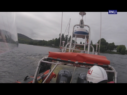 The crew were paged to a 37ft yacht aground at the mouth of the River Oich. With Jamie Mac at the helm and Neil S, David and Jack as crew the lifeboat made best speed down the loch. They established a tow and, not without some effort, pulled the vessel free. It was then able to continue its journey.