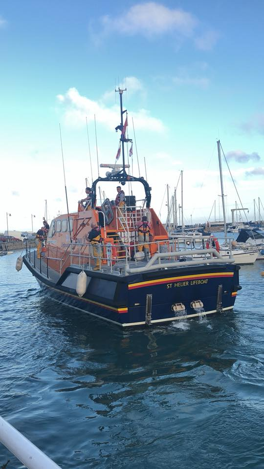 The St Helier ALB departs the Blessing of the Boats