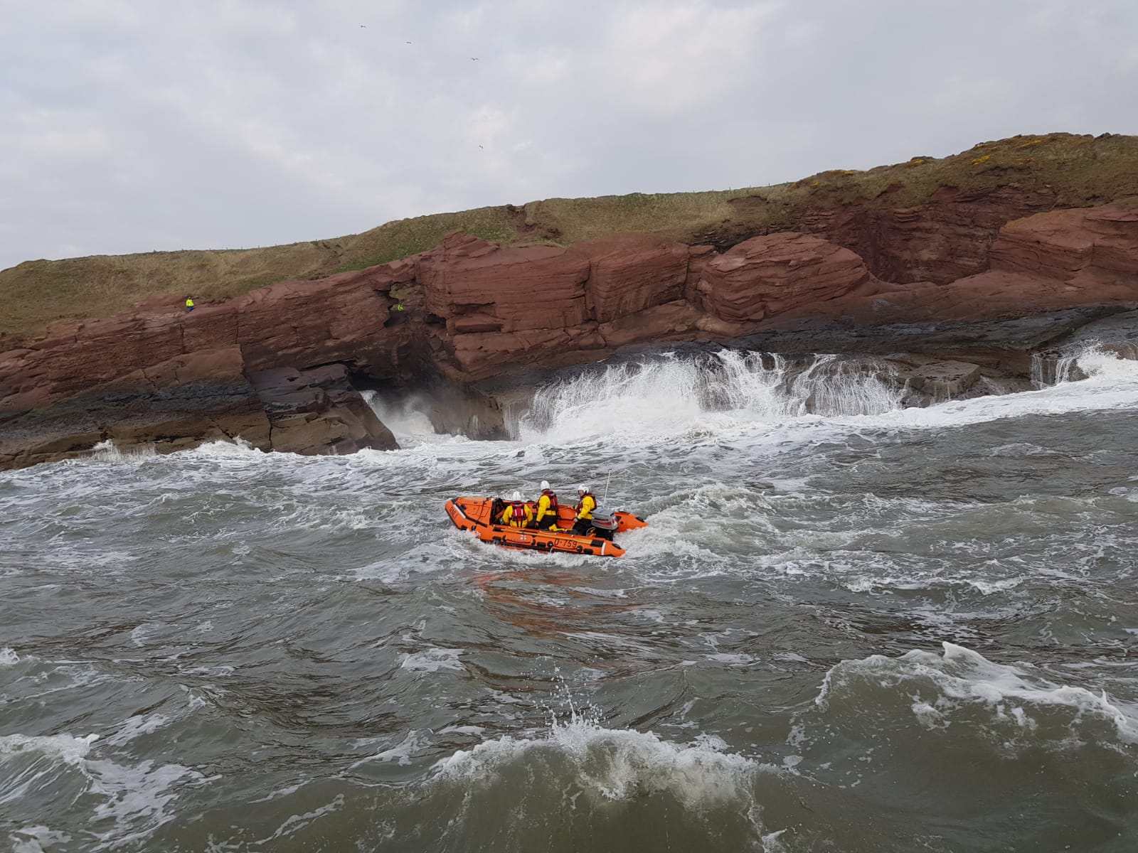 Arbroath ILB during cliff search