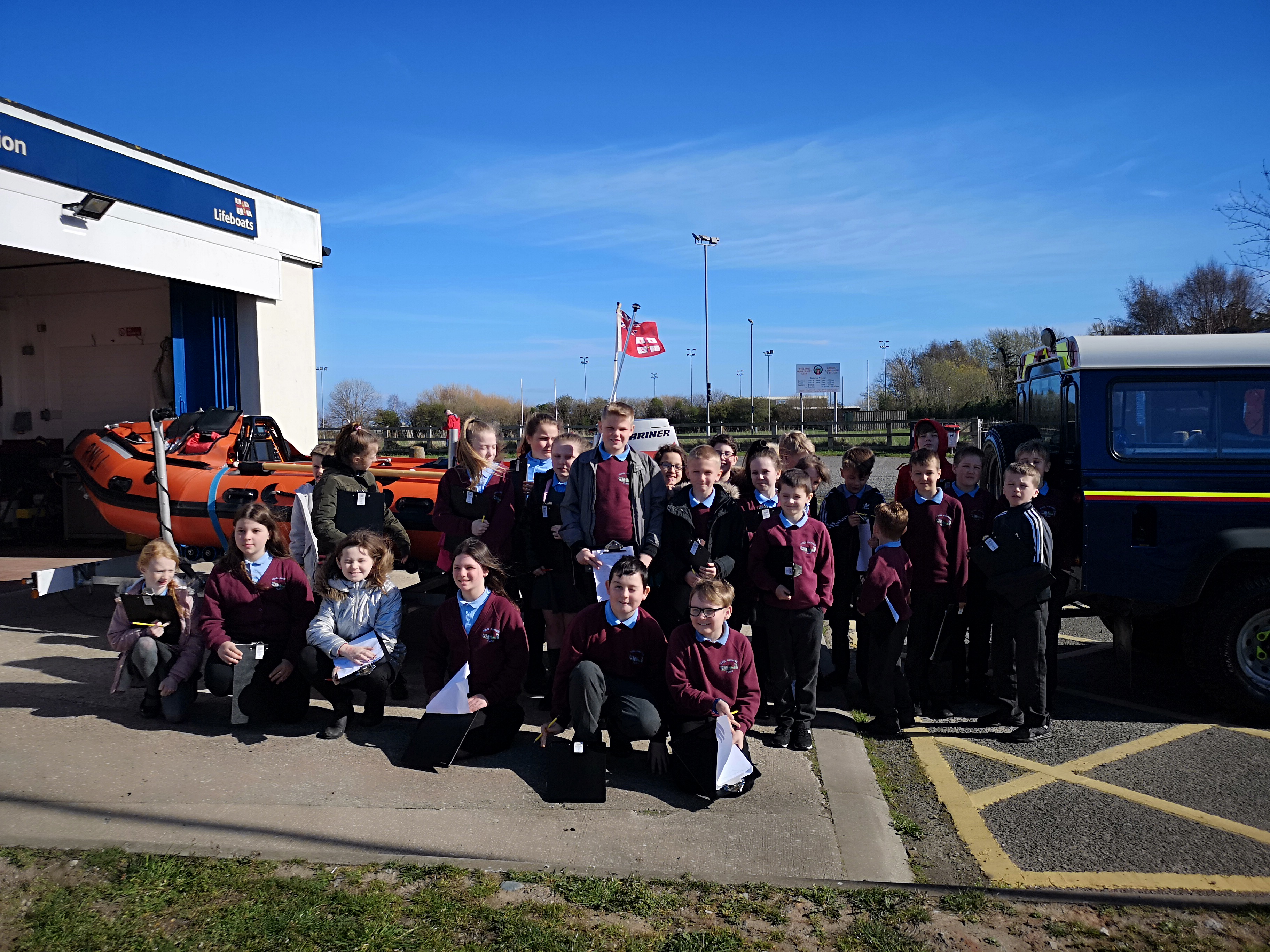 School visit Flint lifeboat station