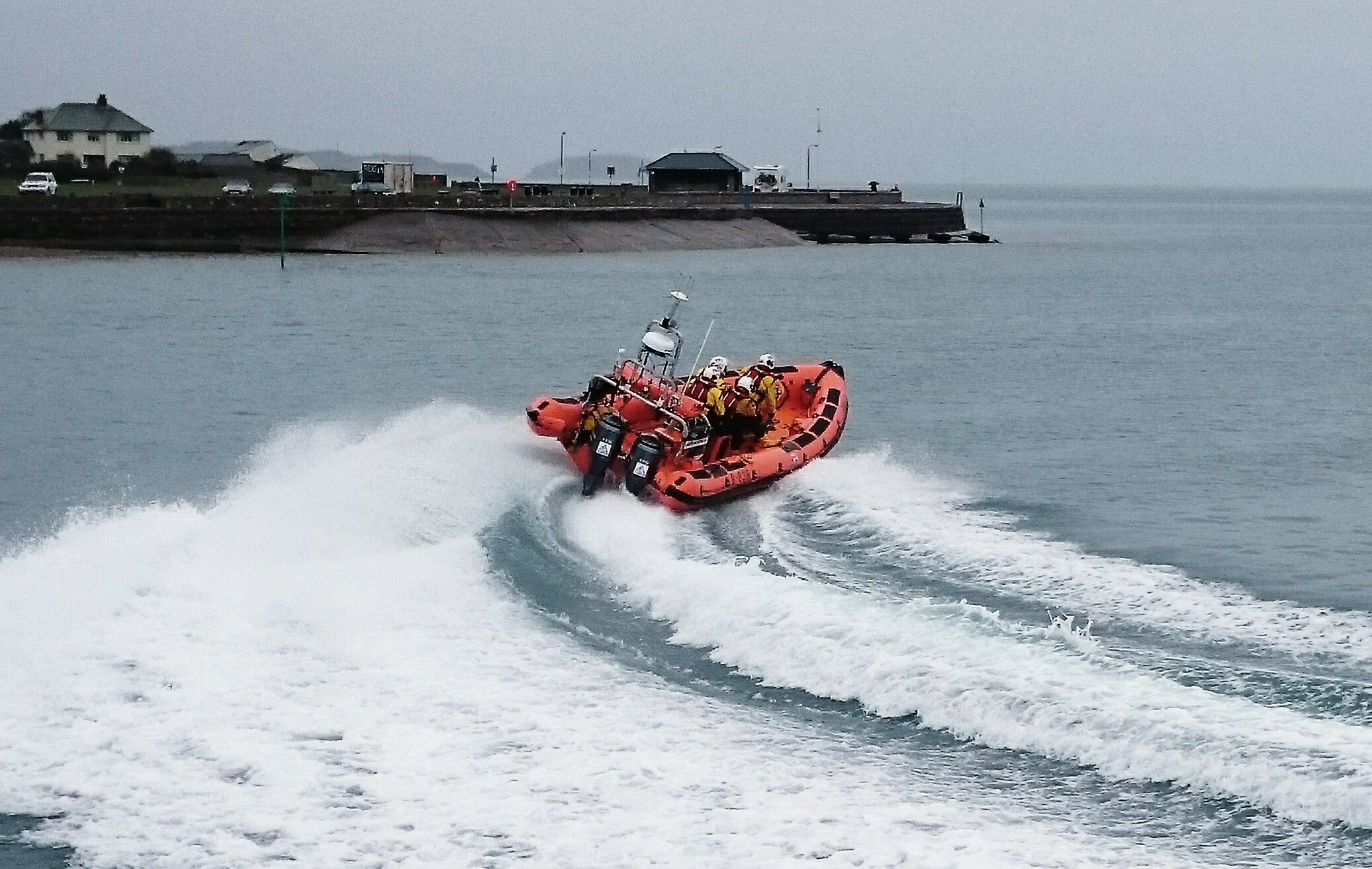 Beaumaris Lifeboat on route to a rescue