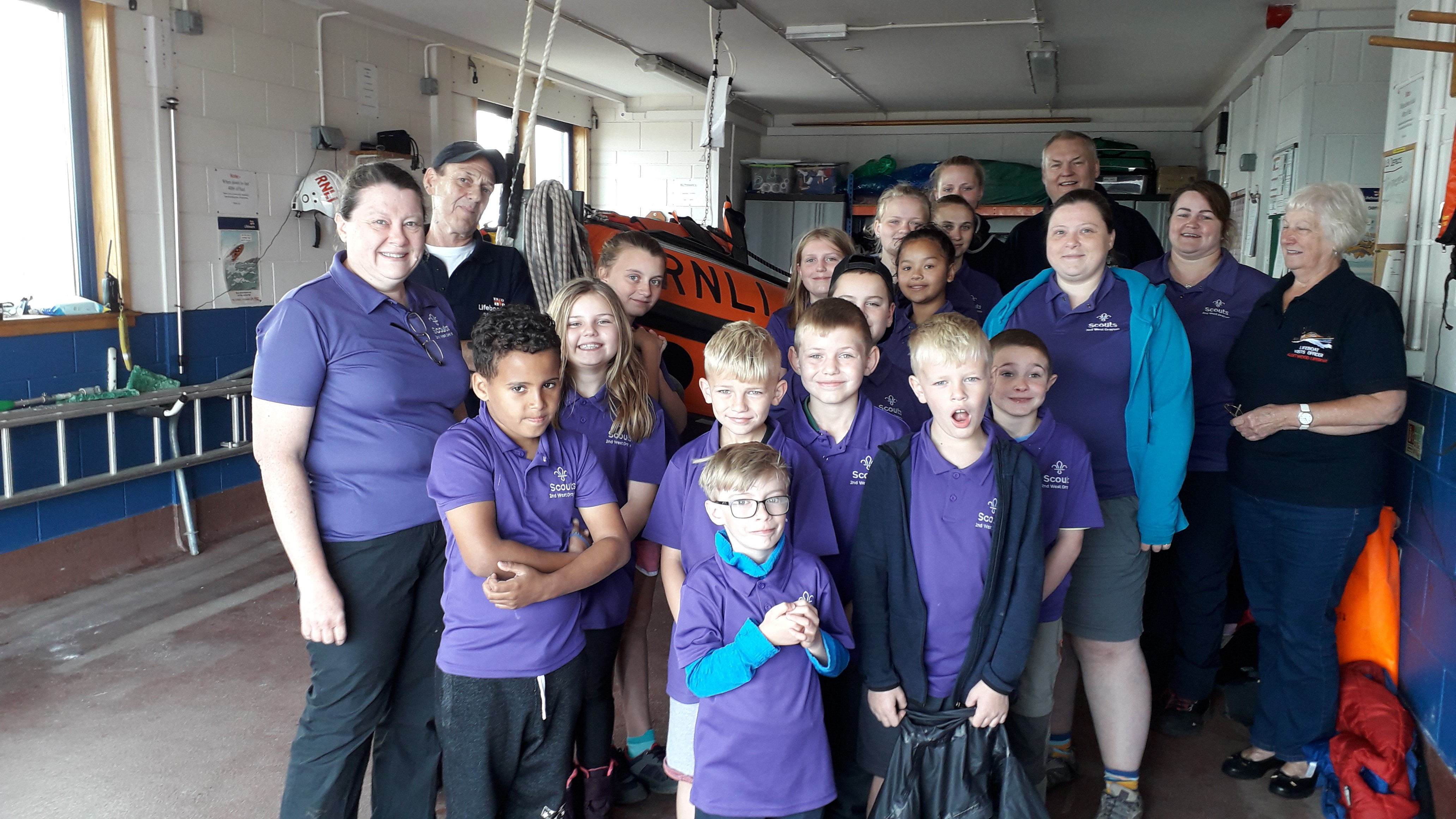 2nd West Drayton Scout Group with Visits Officer, Pat Robinson