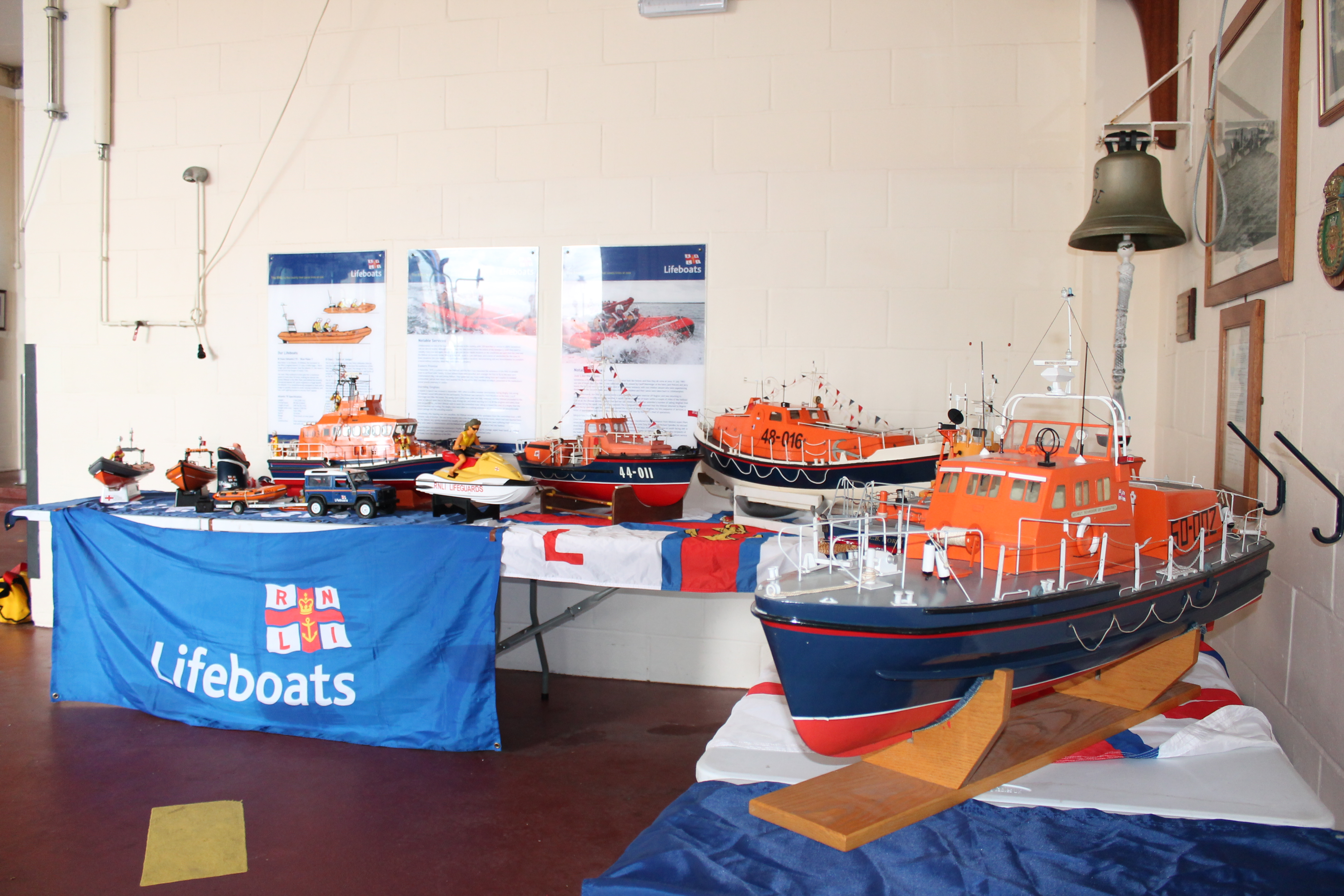 RNLI models of vessels past and present were on display in the boathouse